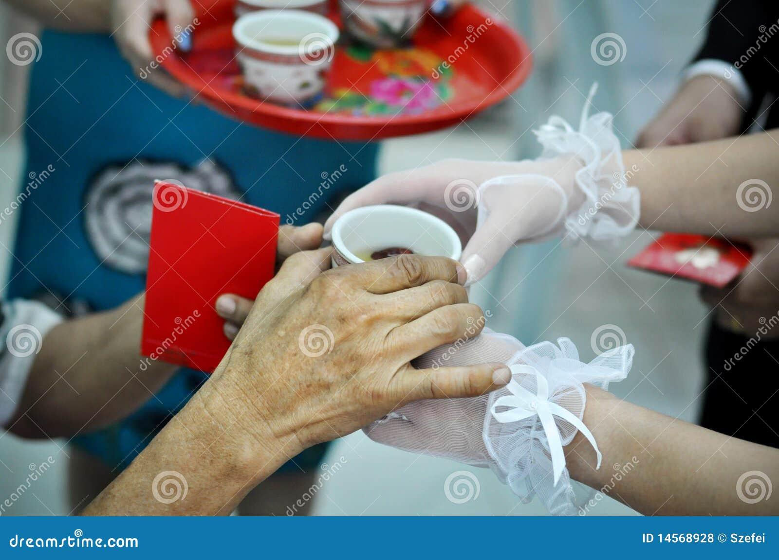 Ceremonia ślub chiński herbaciany