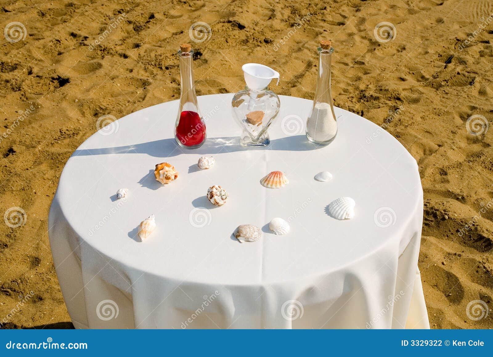 Matrimonio Simbolico De La Arena : Ceremonia de boda la arena fotografía archivo