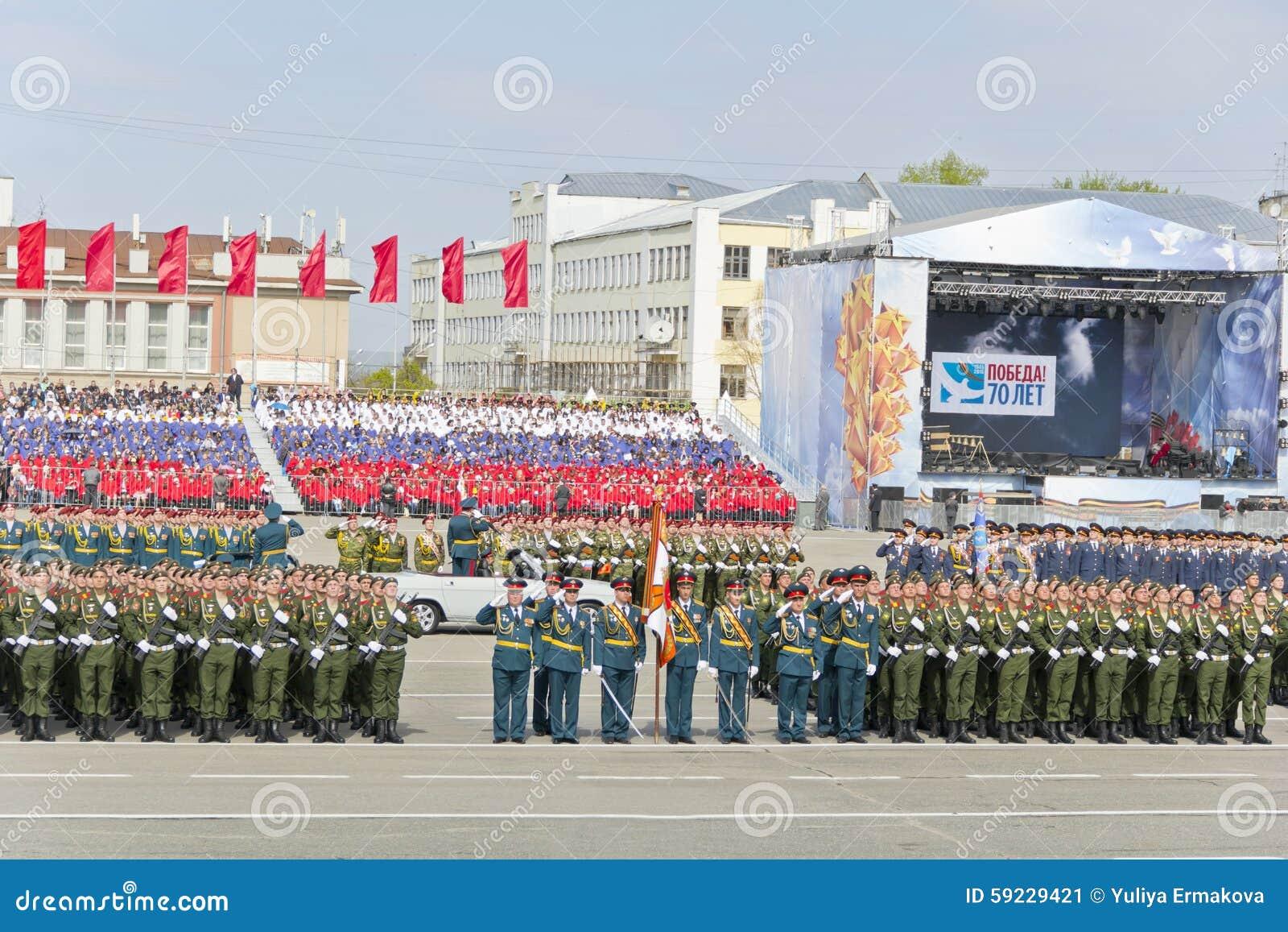Download Ceremonia Rusa Del Desfile Militar De La Abertura En Vencedor Anual Foto editorial - Imagen de movilidad, balístico: 59229421