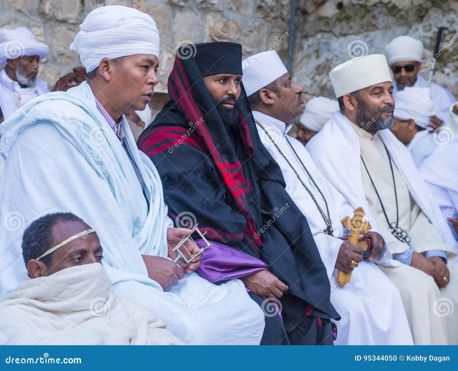 Ceremonia santa etíope del fuego