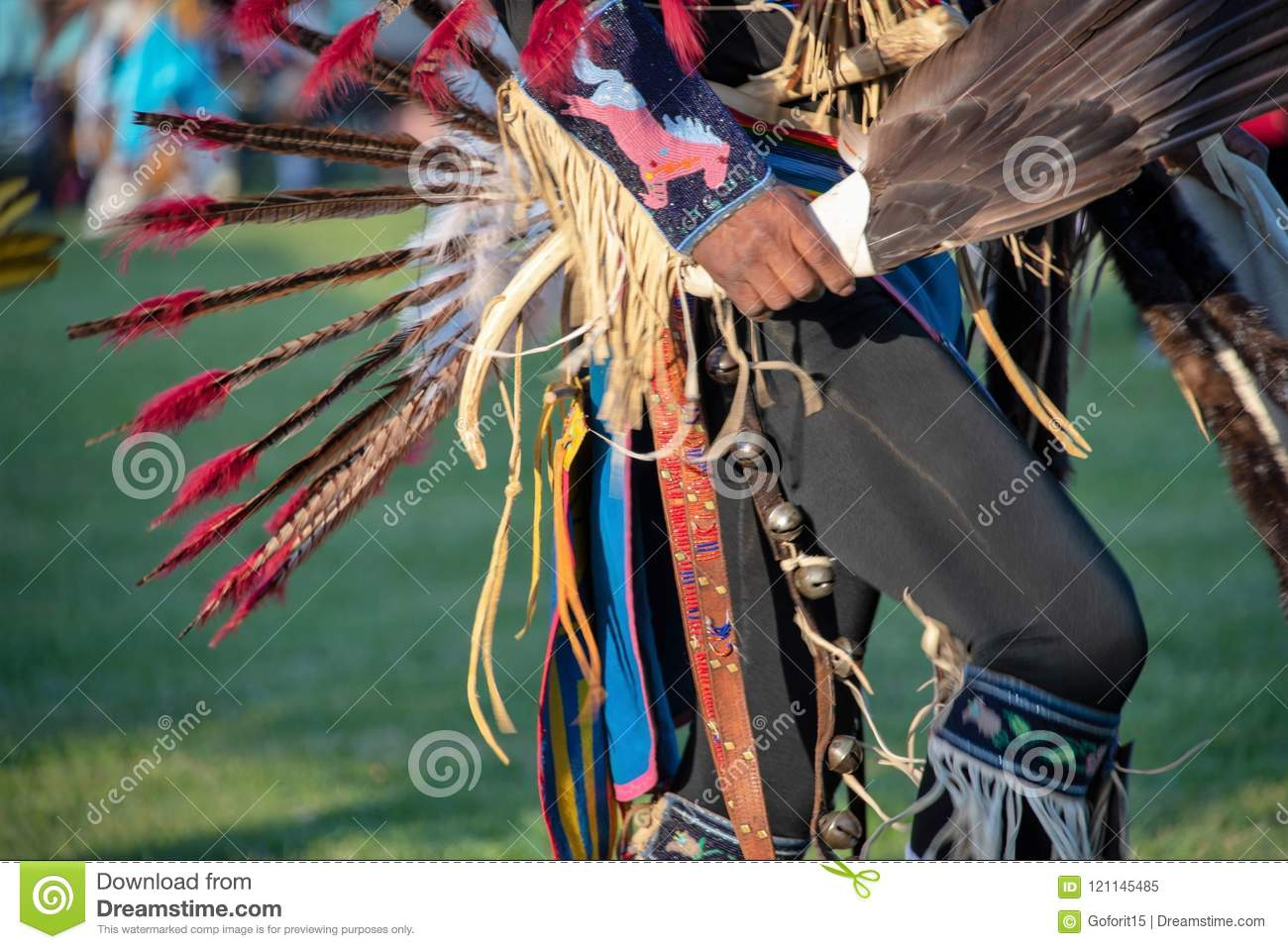 Ceremonial attire at native American Indian Pow Wow