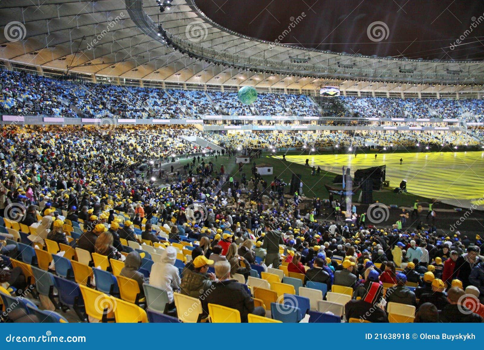 Ceremonii kyiv olimpijski otwarcia stadium Ukraine