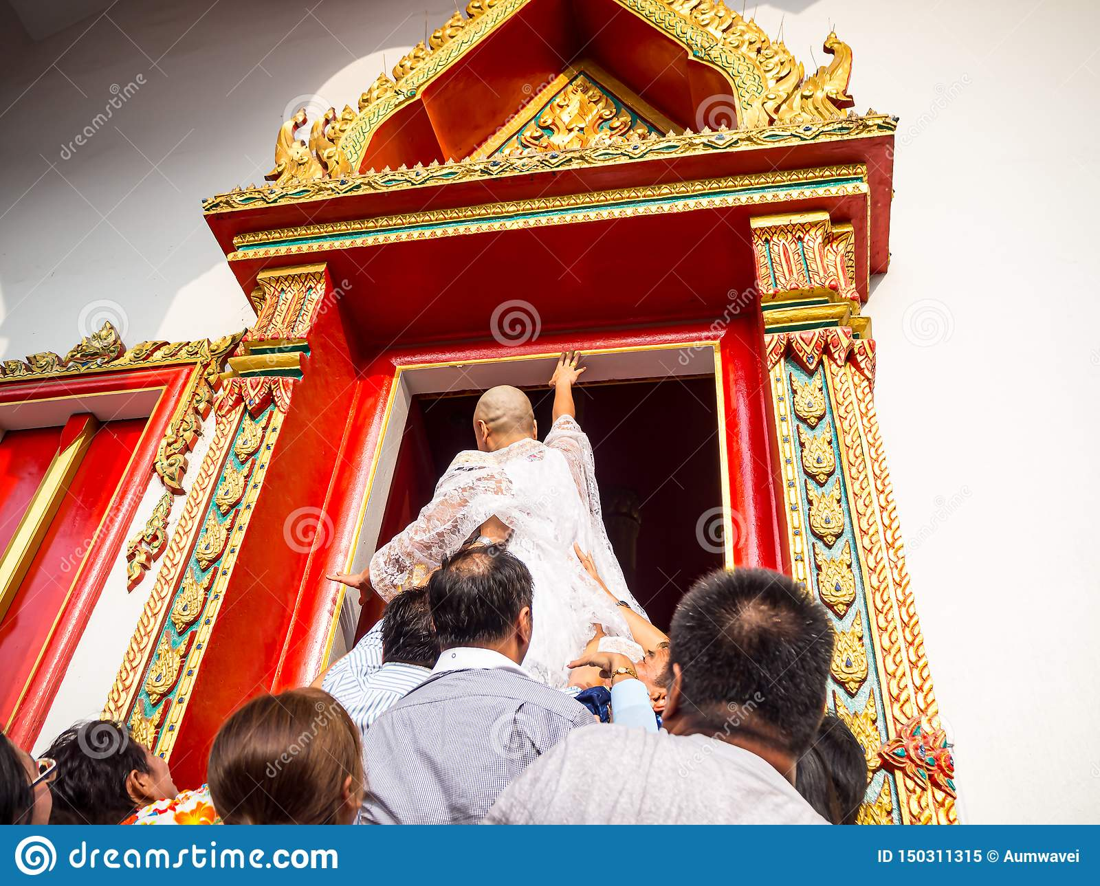 The ceremony of ordinations to touch the edge of the church before the ceremony to be valid