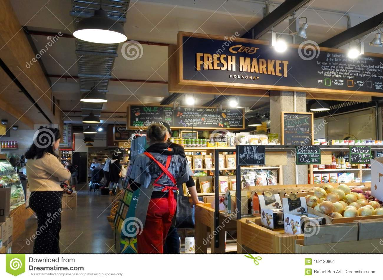 Ceres Fresh Market Ponsonby Auckland New Zealand Editorial ...