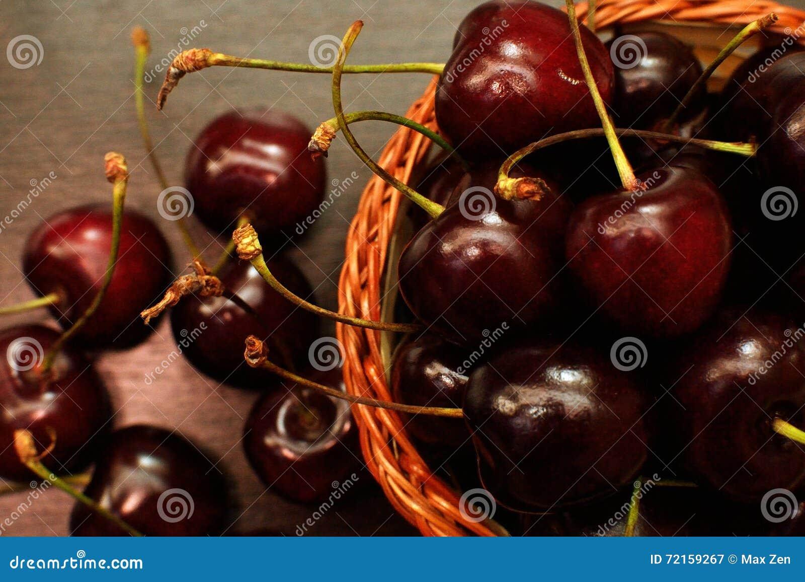 Cerezas dulces rojas