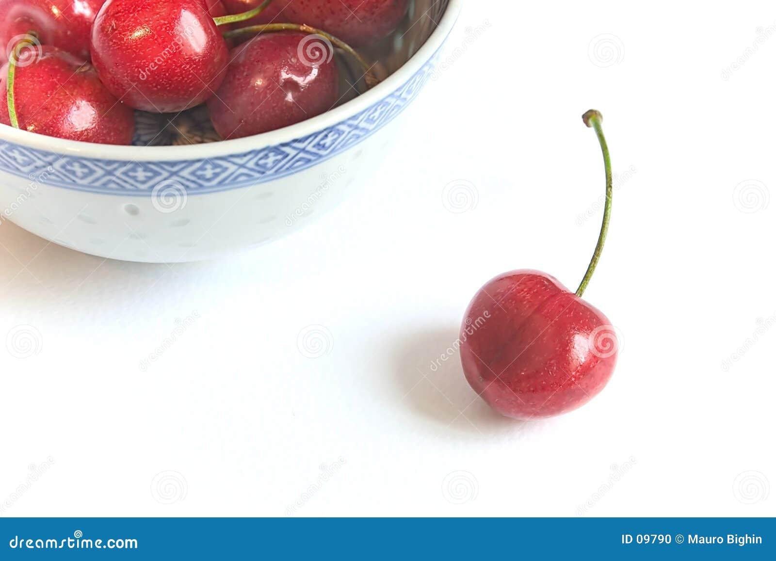 Cerezas frescas