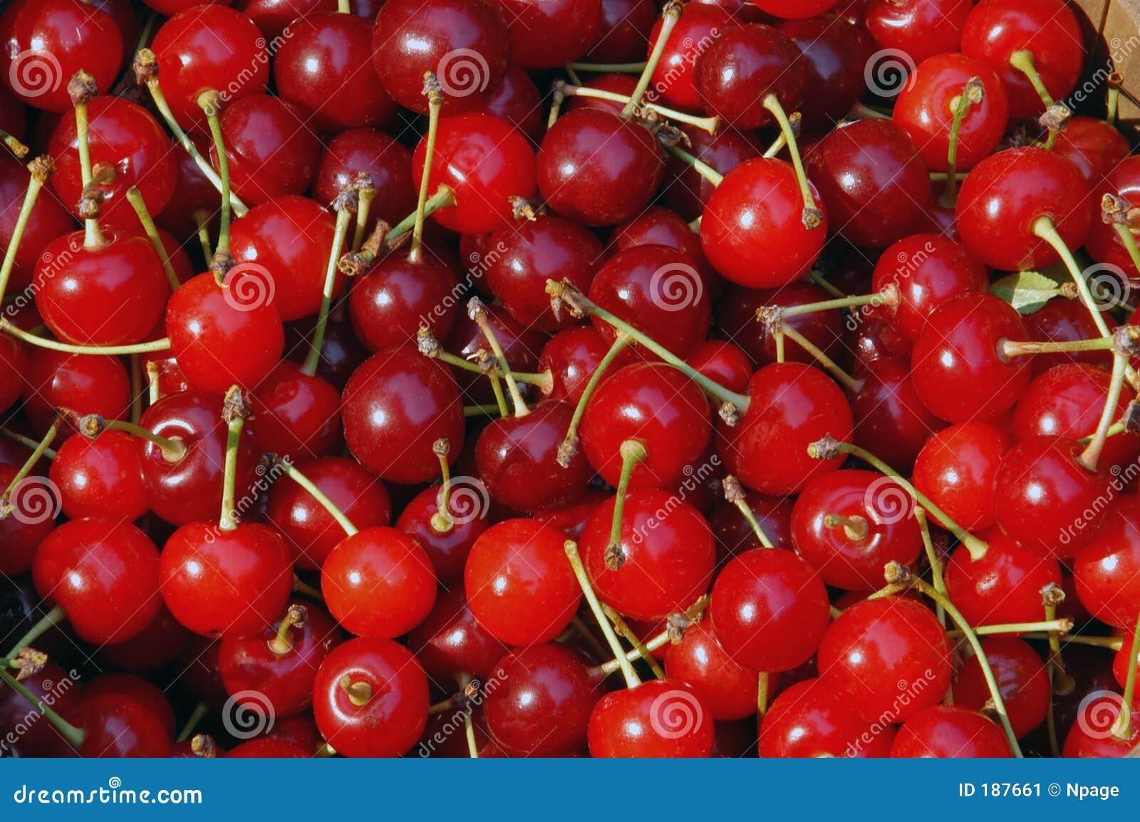 Cerezas rojas