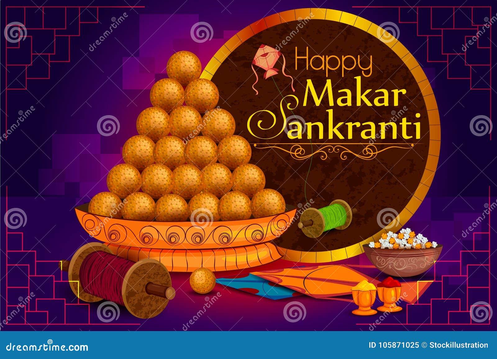 Cerf-volant doux et coloré délicieux pour le festival indien, Makar Sankranti