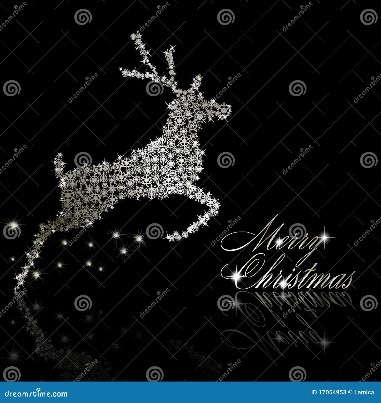 Cerfs communs argentés de Noël