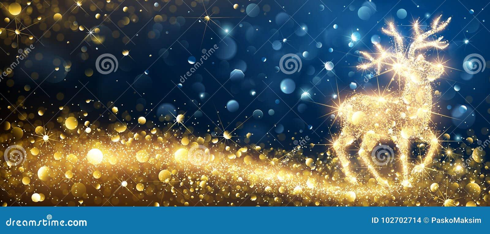 Cerfs communs de magie de Noël