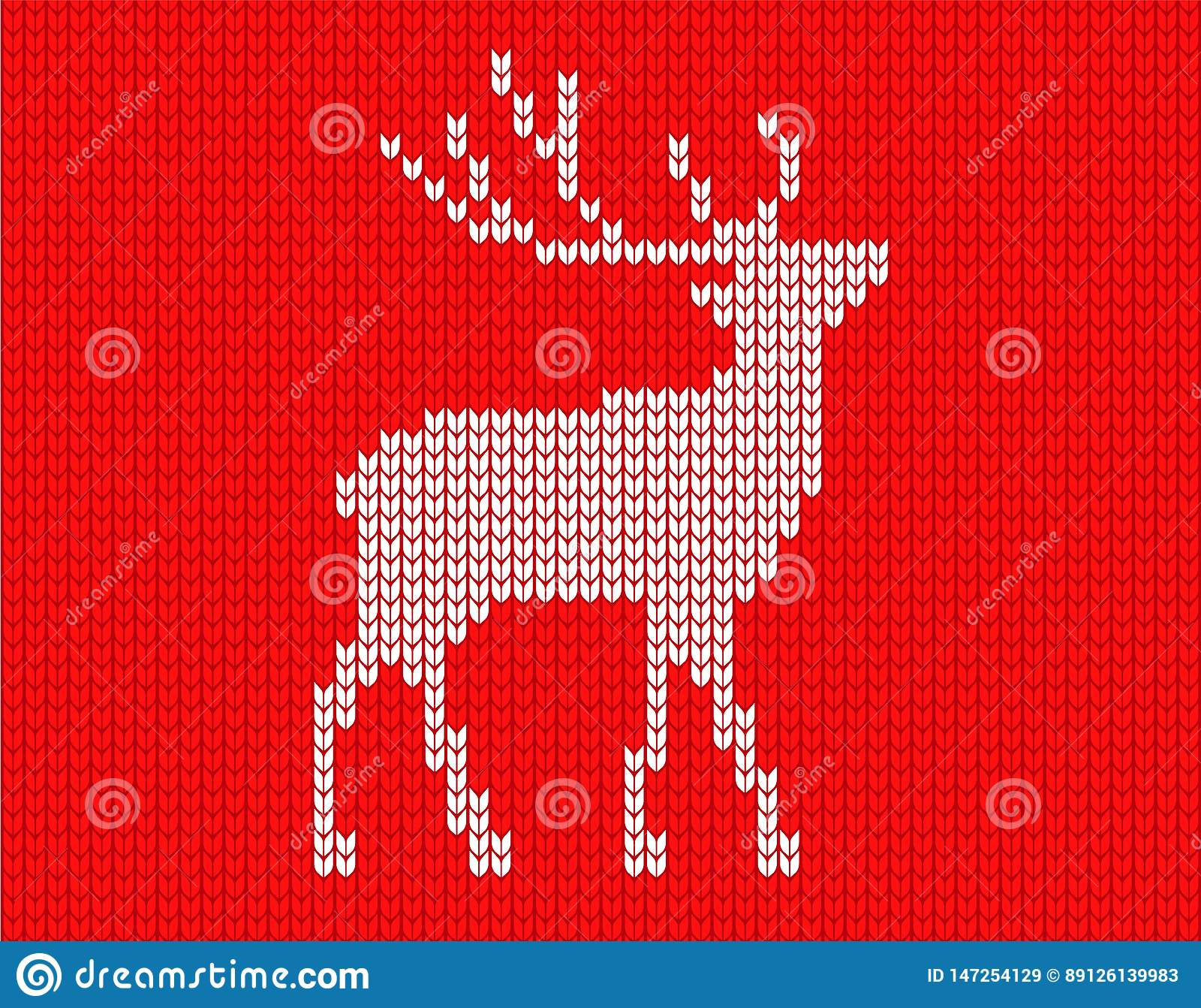 Cerfs communs tricotés en pixels