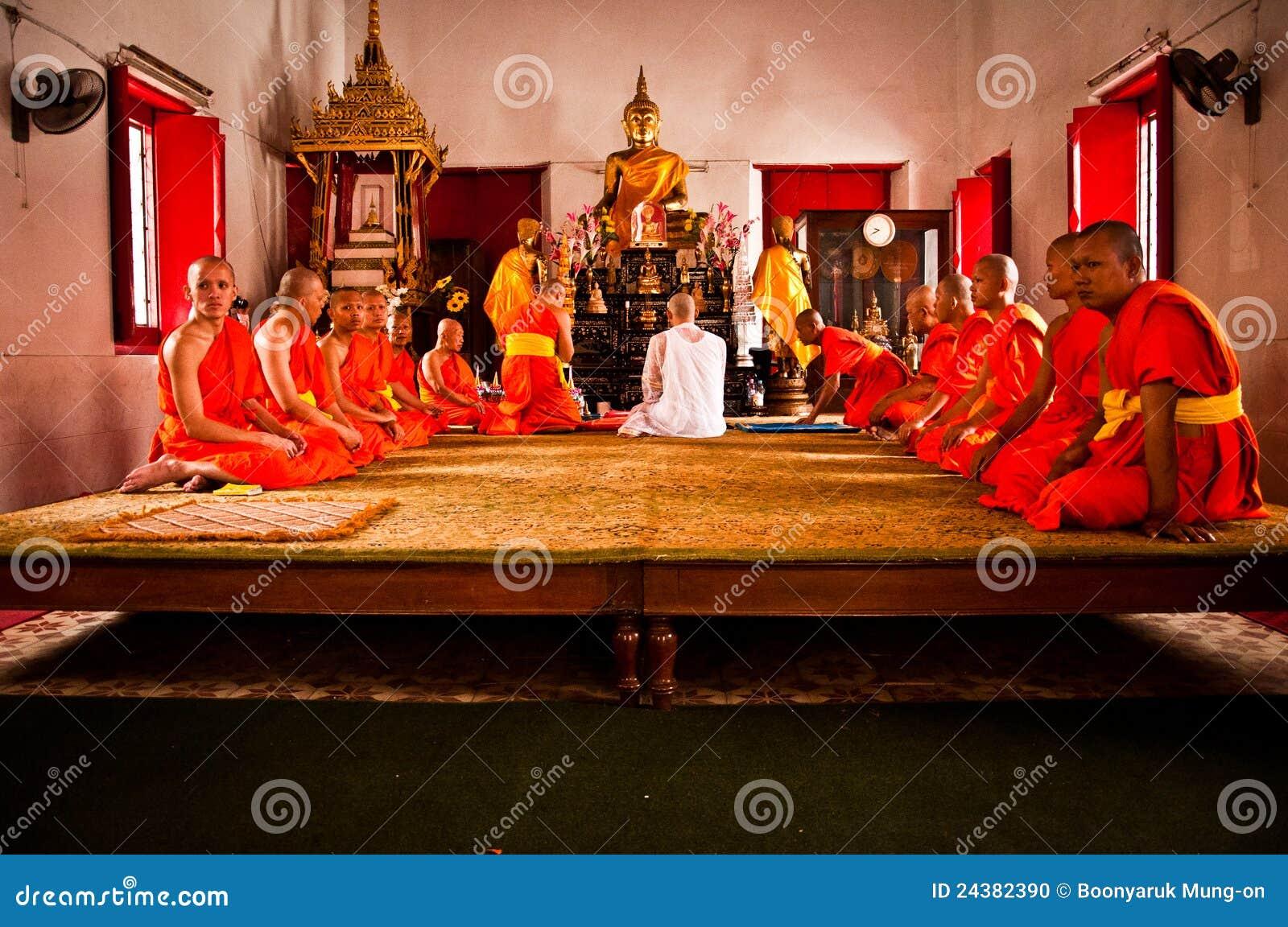 Cerimónia budista tailandesa da classificação
