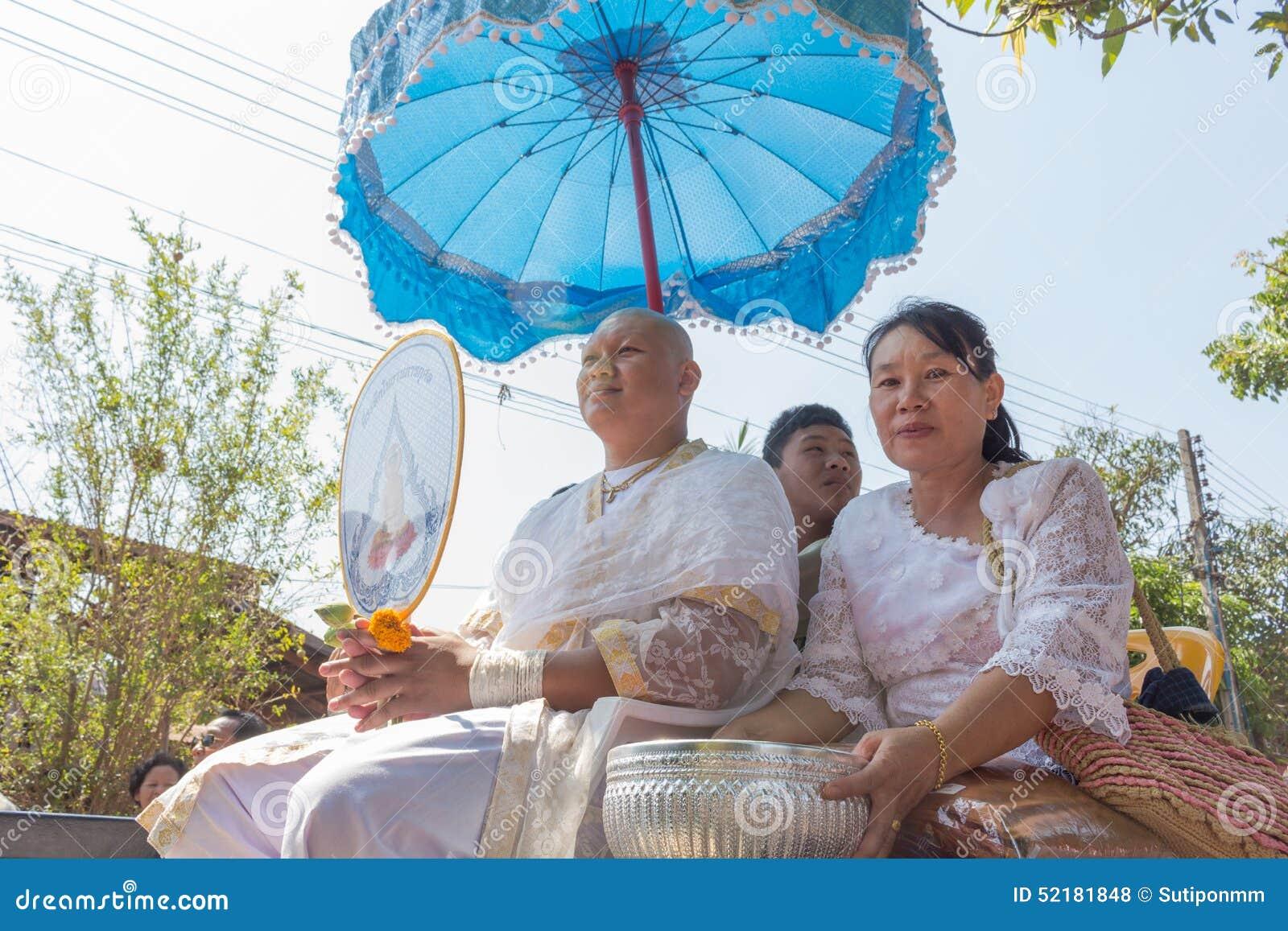Cerimonia buddista tailandese di classificazione