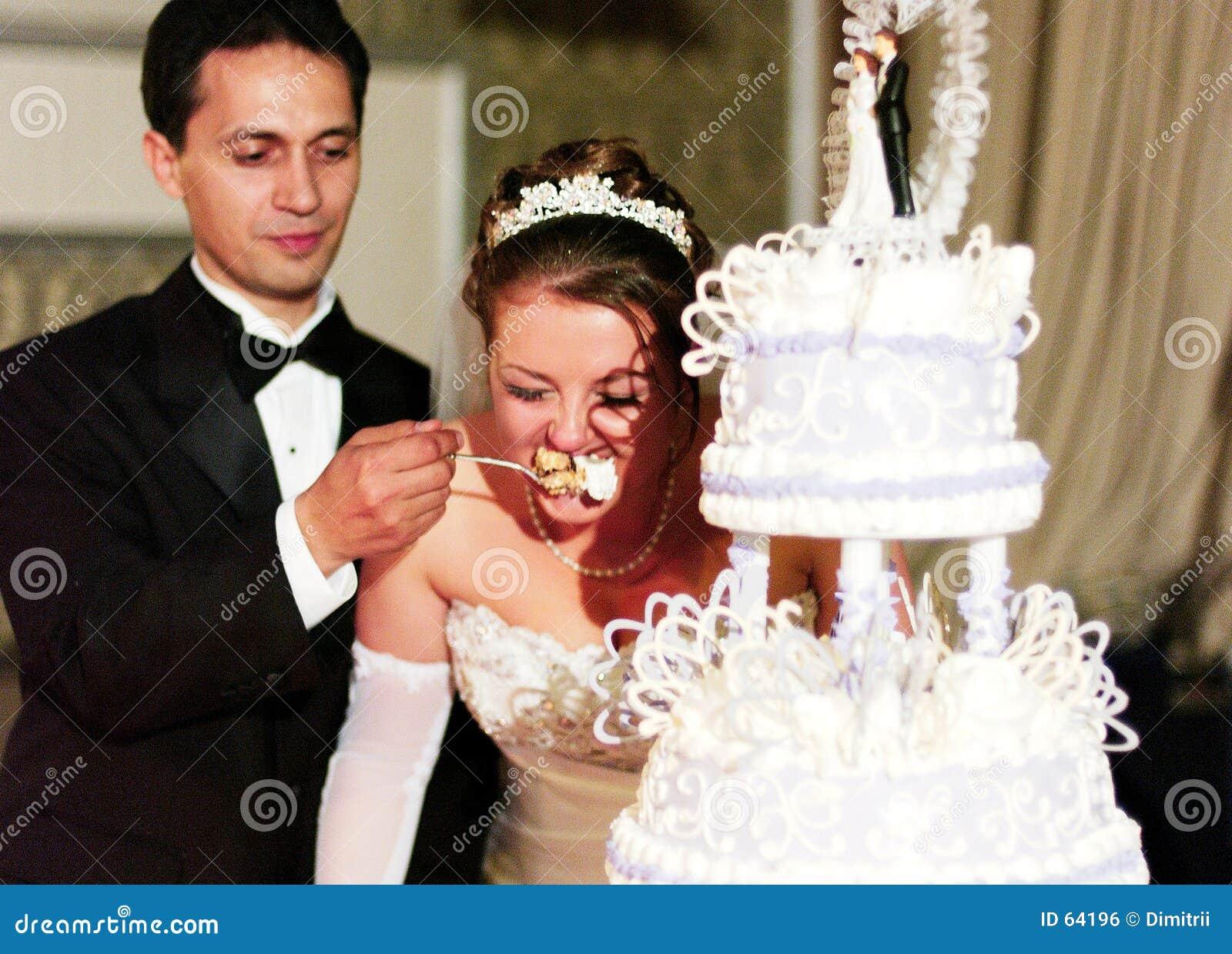 Cerimonia della torta di cerimonia nuziale