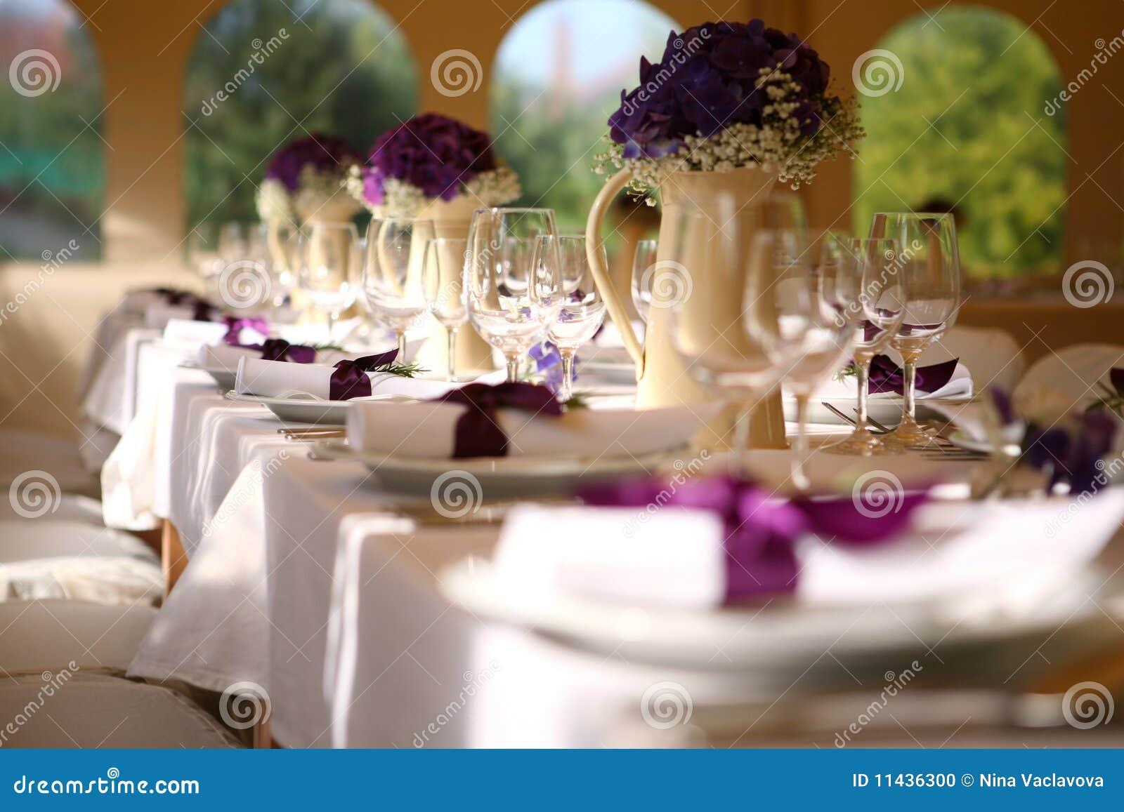 Cerimonia nuziale della tabella