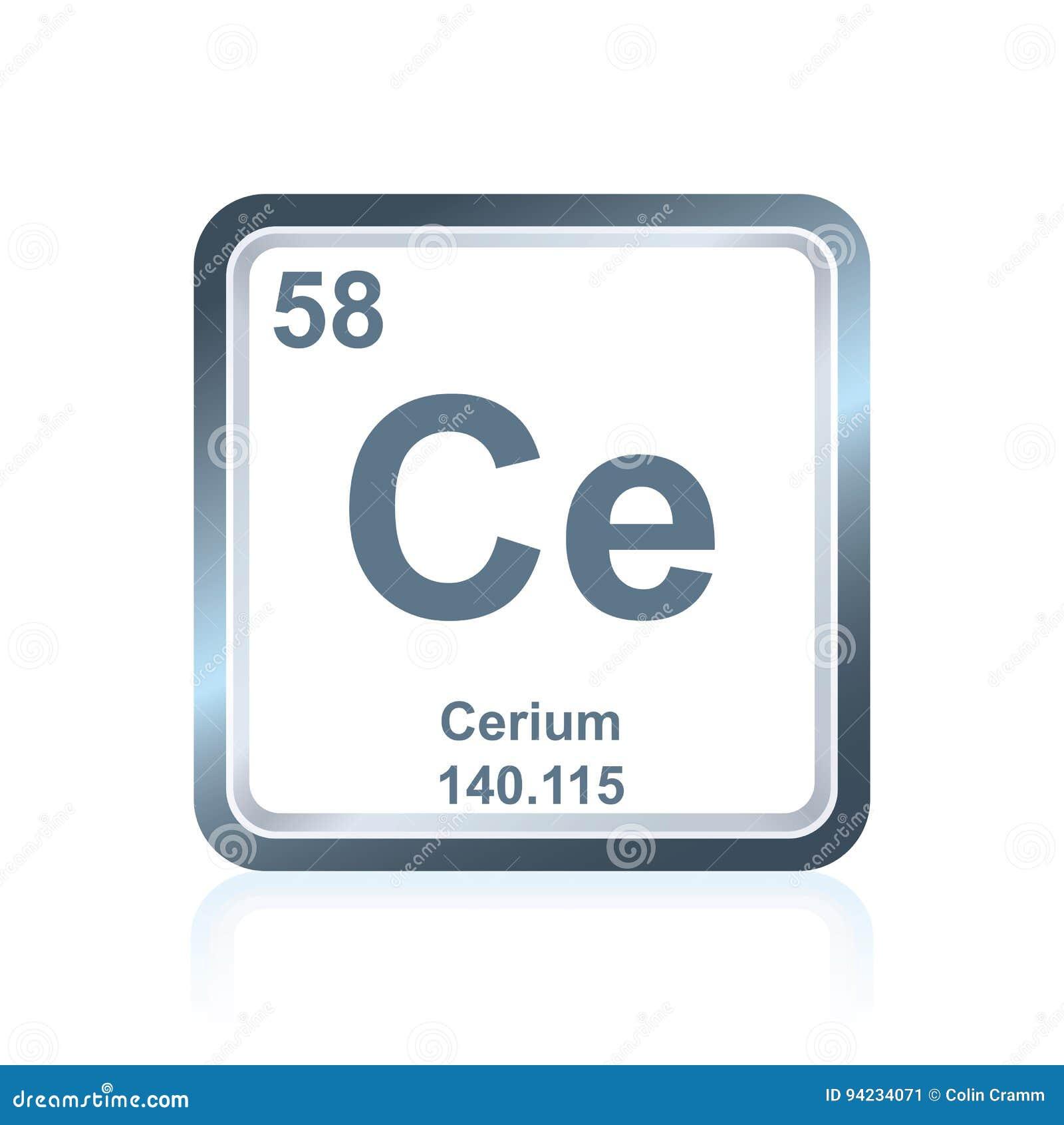 Cerio del elemento qumico de la tabla peridica stock de download cerio del elemento qumico de la tabla peridica stock de ilustracin ilustracin de atmico urtaz Gallery