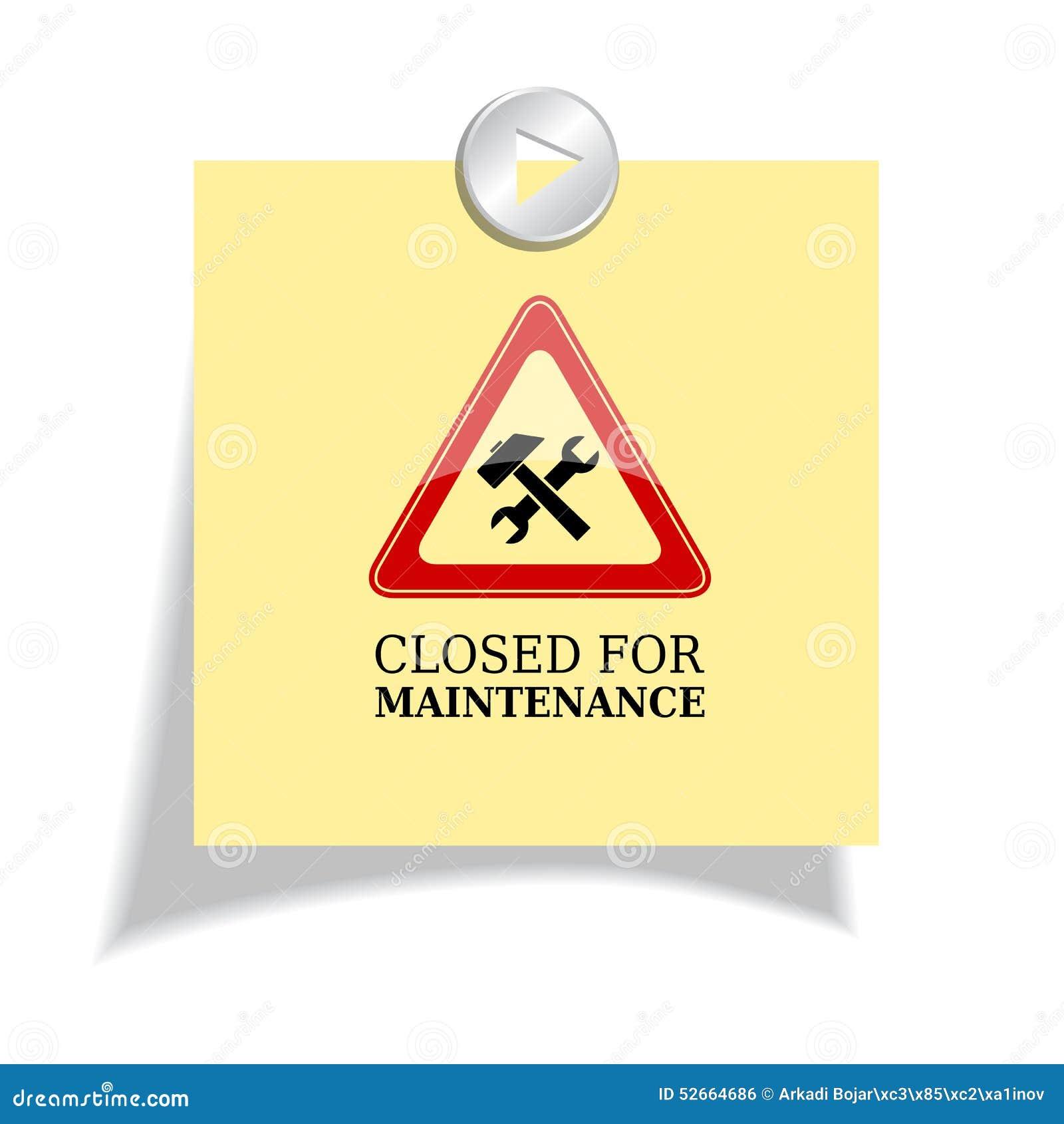 Cerrado para el mantenimiento