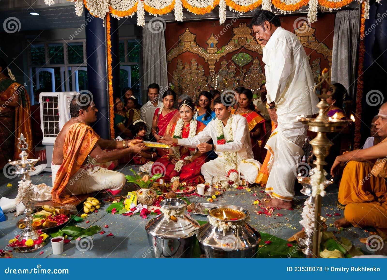 Cerremony印第安泰米尔人传统婚礼