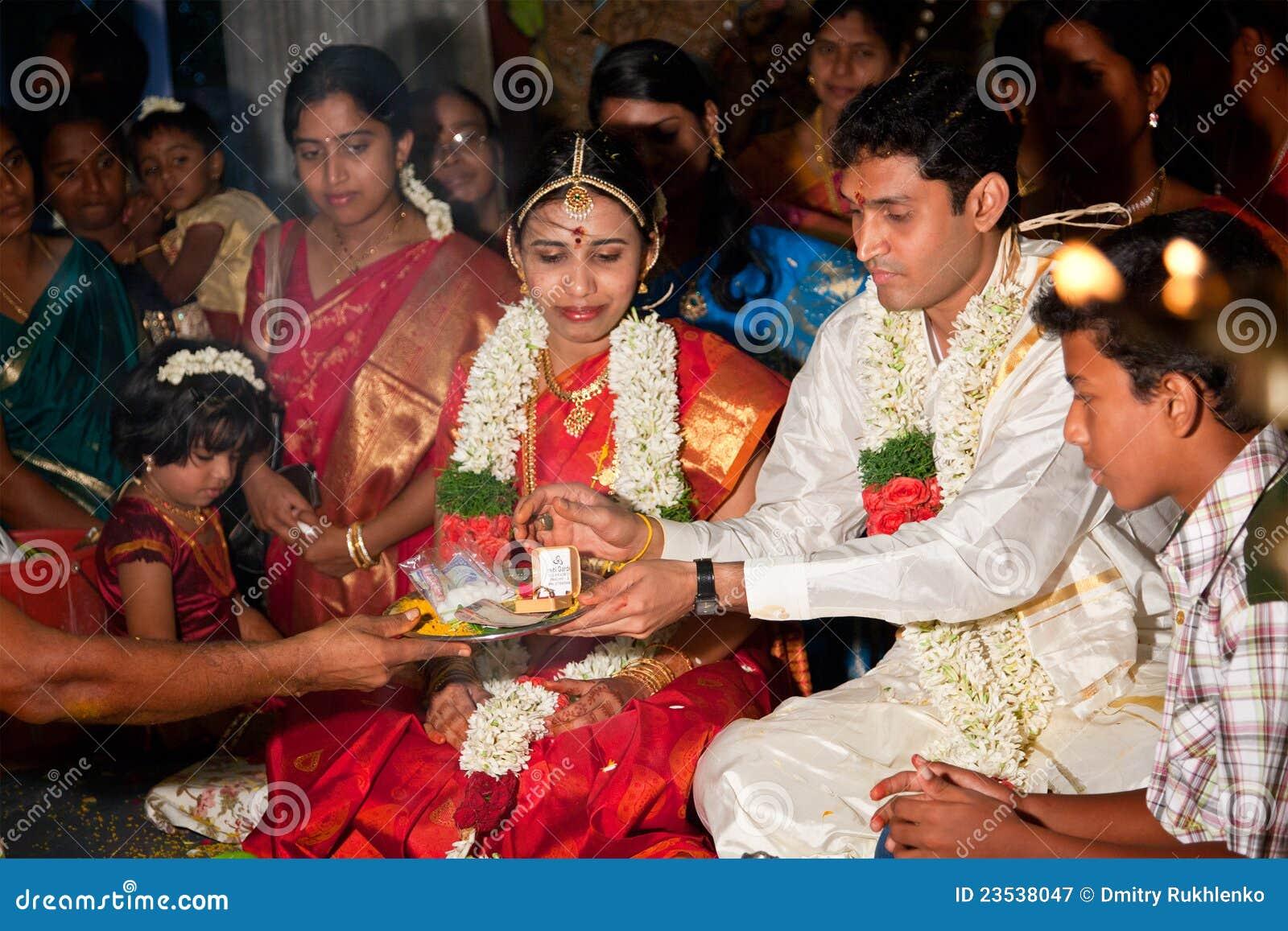 Cerremony Wedding traditionnel (Tamoul) indien