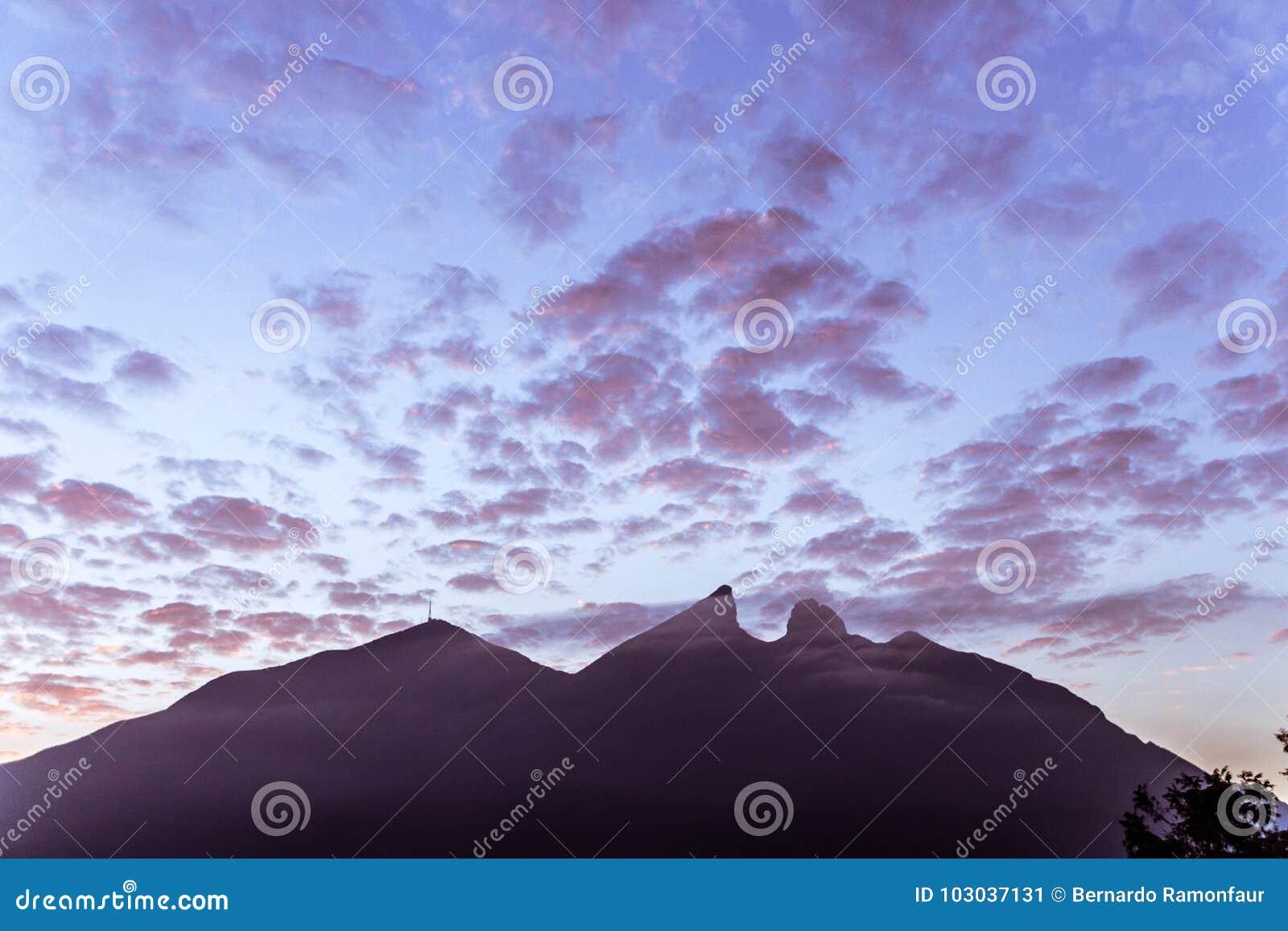 Famous mountain in Monterrey Mexico called Cerro de la Silla