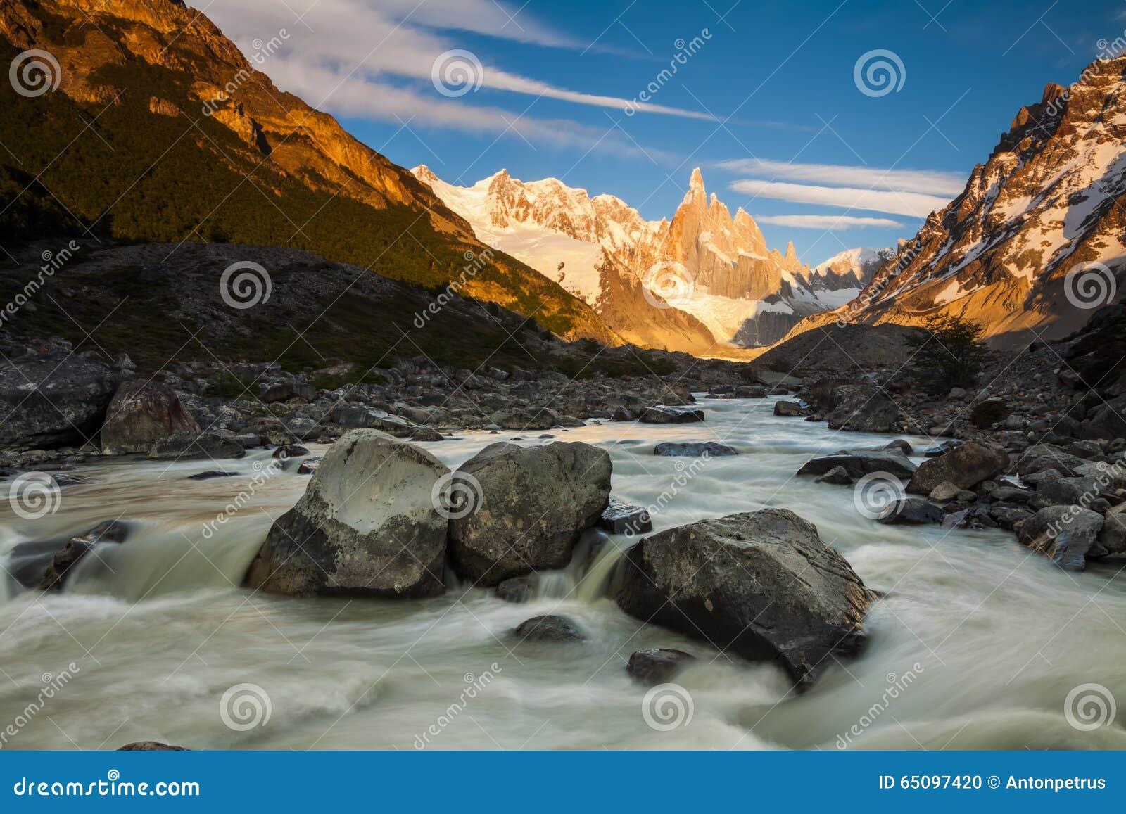 Download Cerro Torre, Los Glaciares National Park, Patagonia, Stock Photo - Image of chile, argentina: 65097420