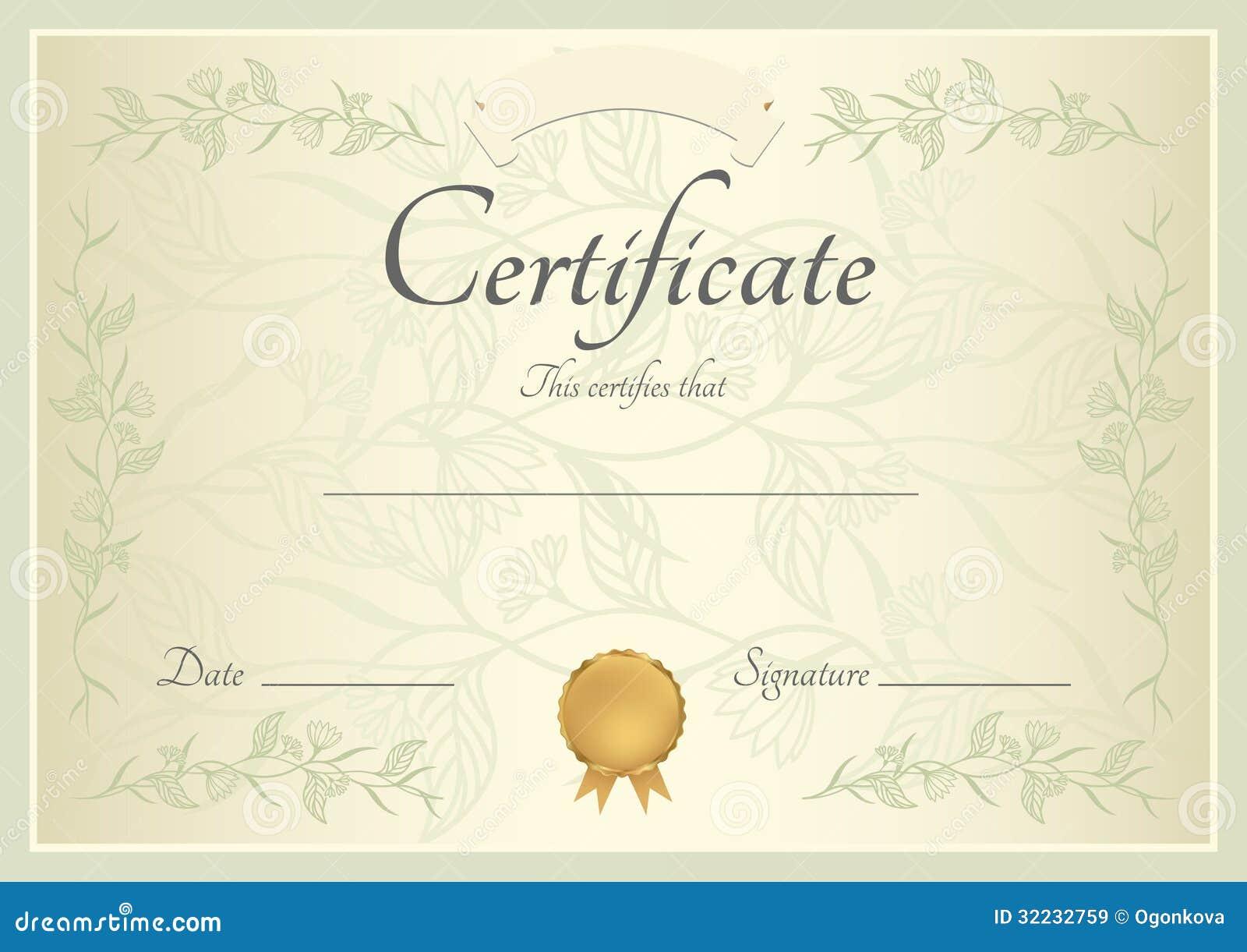 Certificaat diplomaachtergrond malplaatje vector illustratie afbeelding 32232759 - Geloofsbrieven ontwerp ...