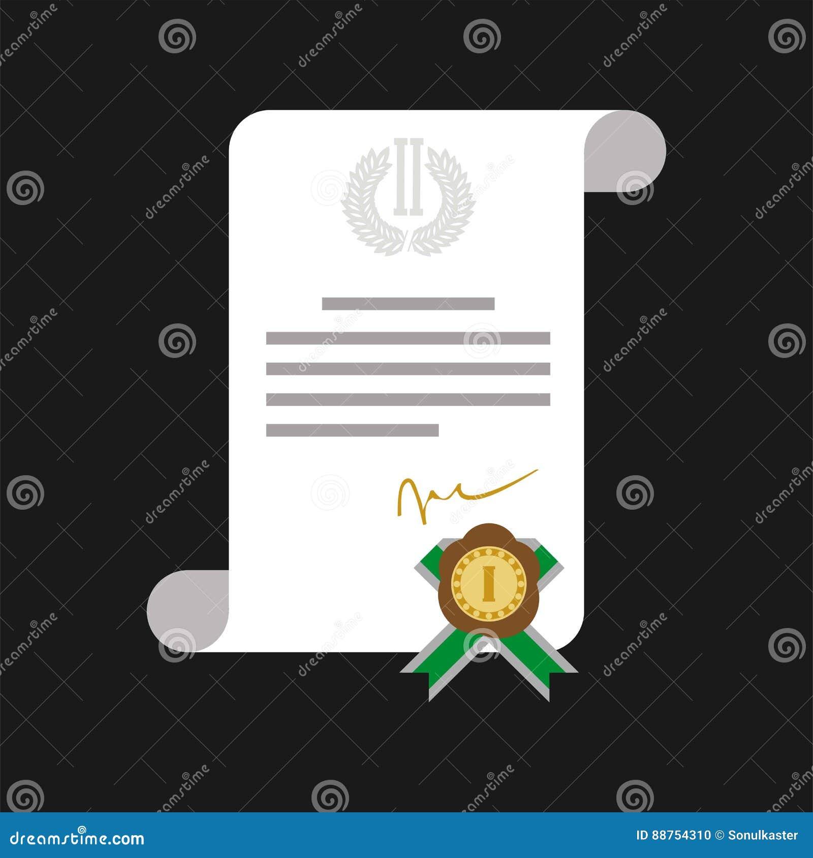 Certificado de honor con la bandera del web de la medalla de oro aislada