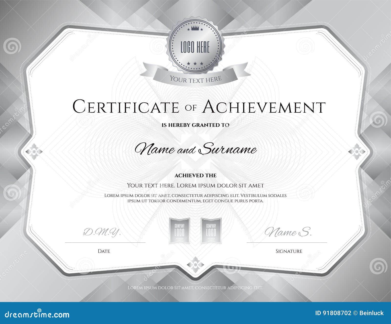 Increíble Plantilla De Certificado De Premio De Logro Ideas ...