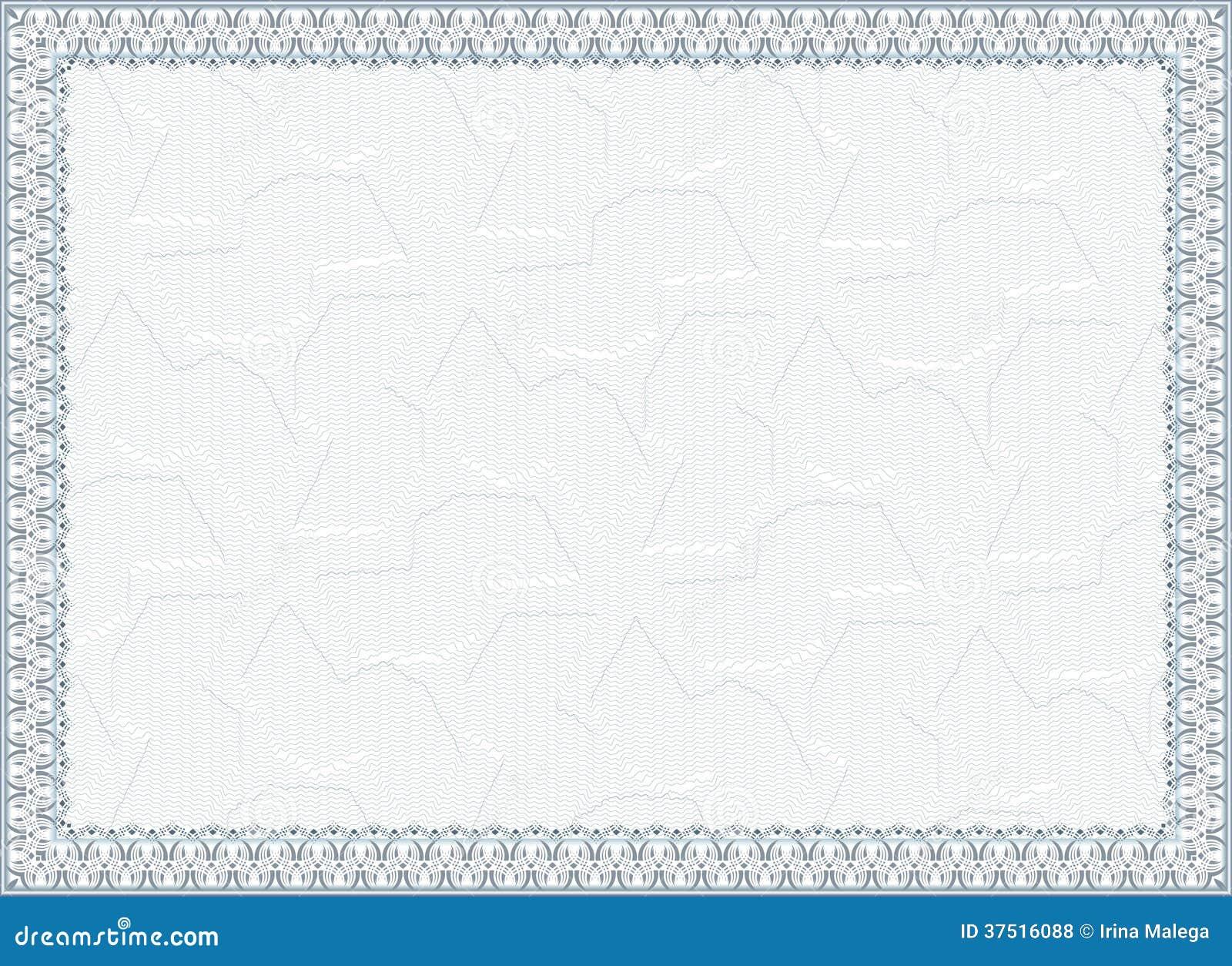 Certificado, Diploma Para La Impresión Ilustración del Vector ...