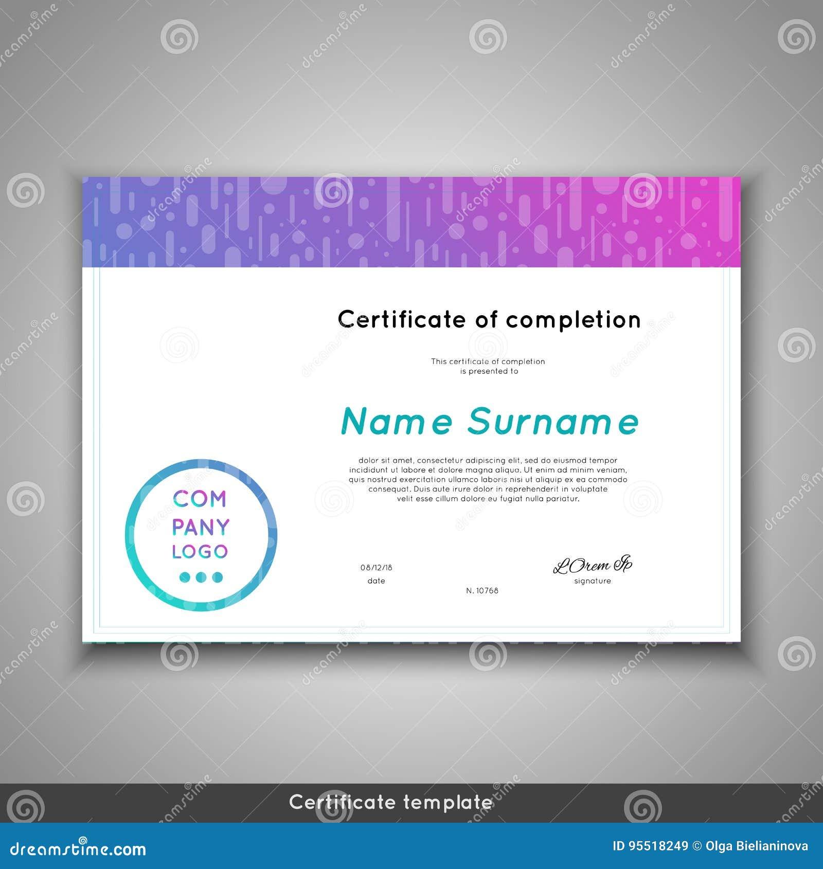 Certificado futurista de realización - aprecio, logro, graduación, diploma o premio - plantilla con divertido
