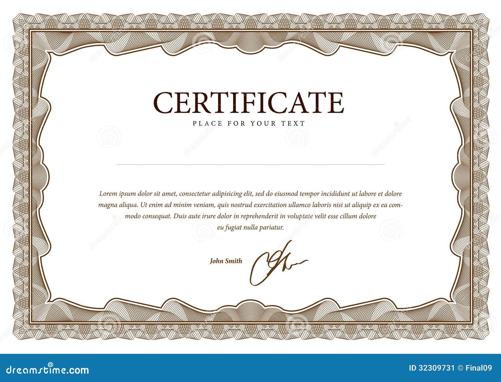 Único Certificados Plantillas Gratuitas Modelo - Ejemplo De ...