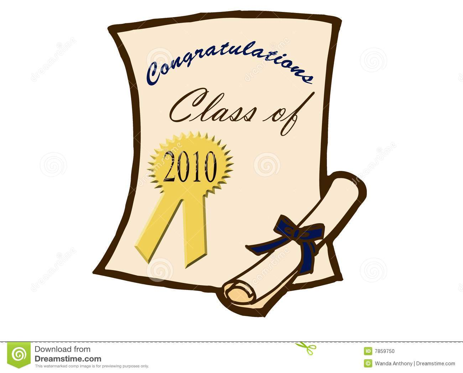 Certificado y diploma de la graduación
