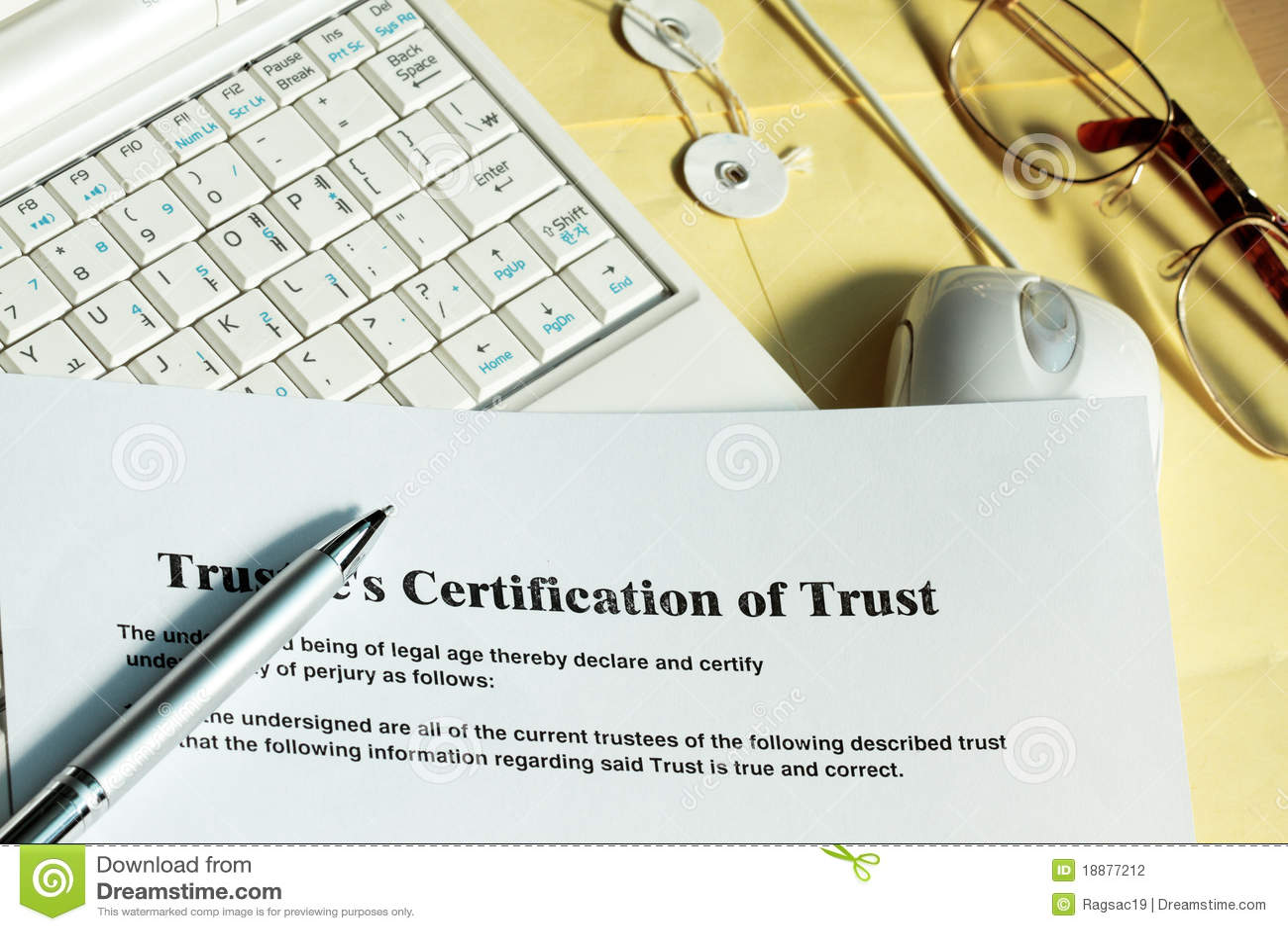 Certificat de confiance