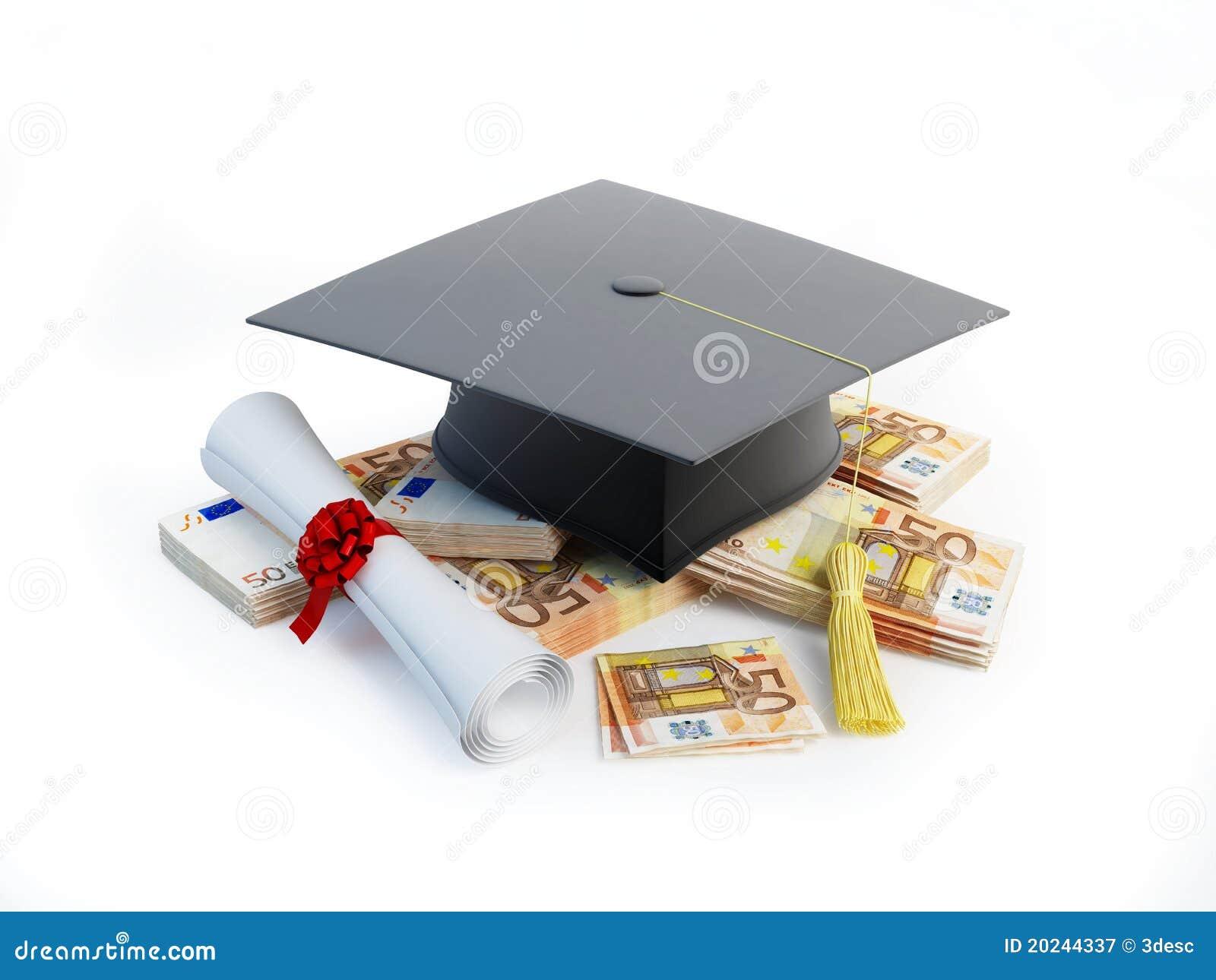 certificat de fin d u0026 39  u00e9tudes ou formation des prix illustration stock
