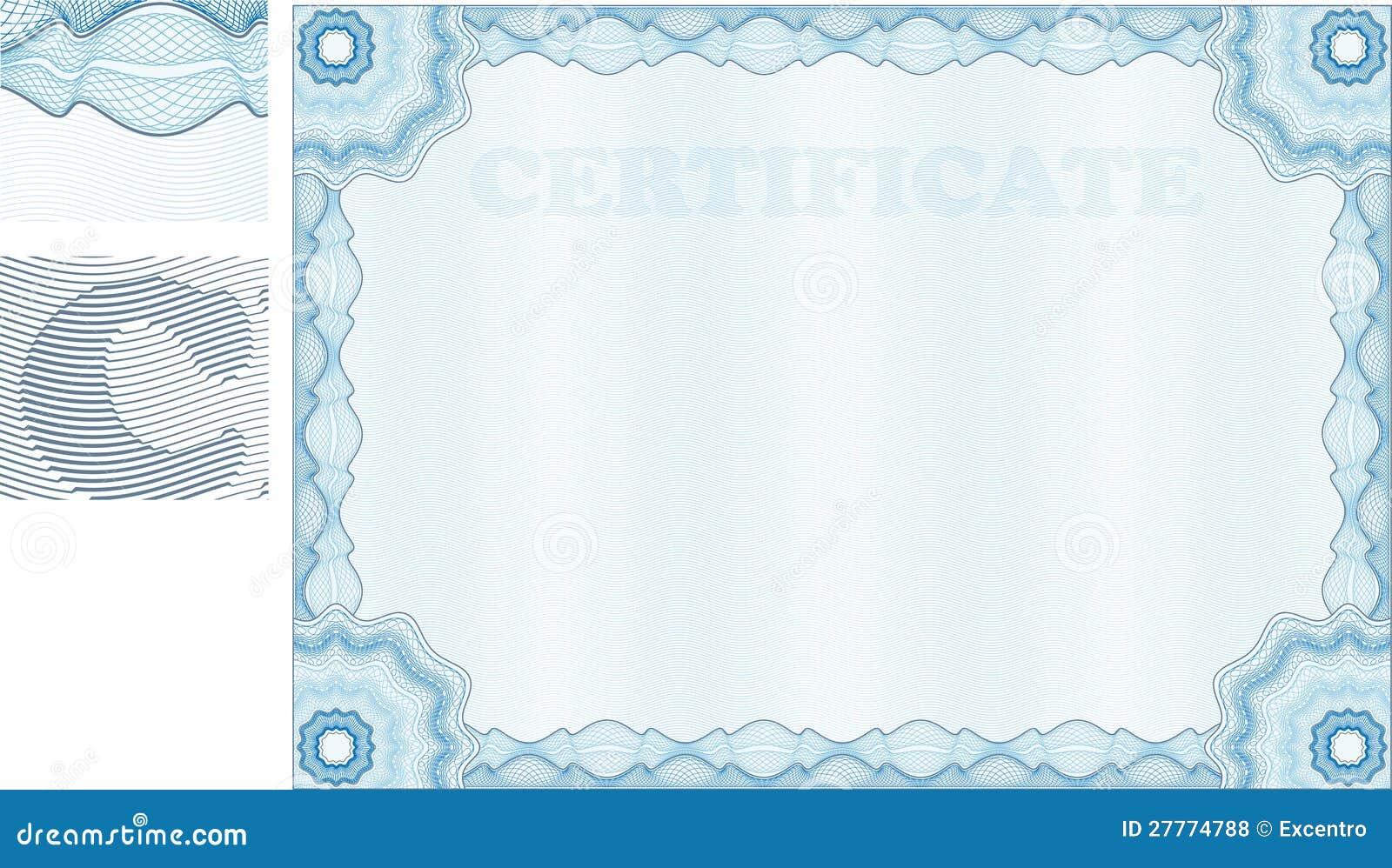 Certificat de guilloche