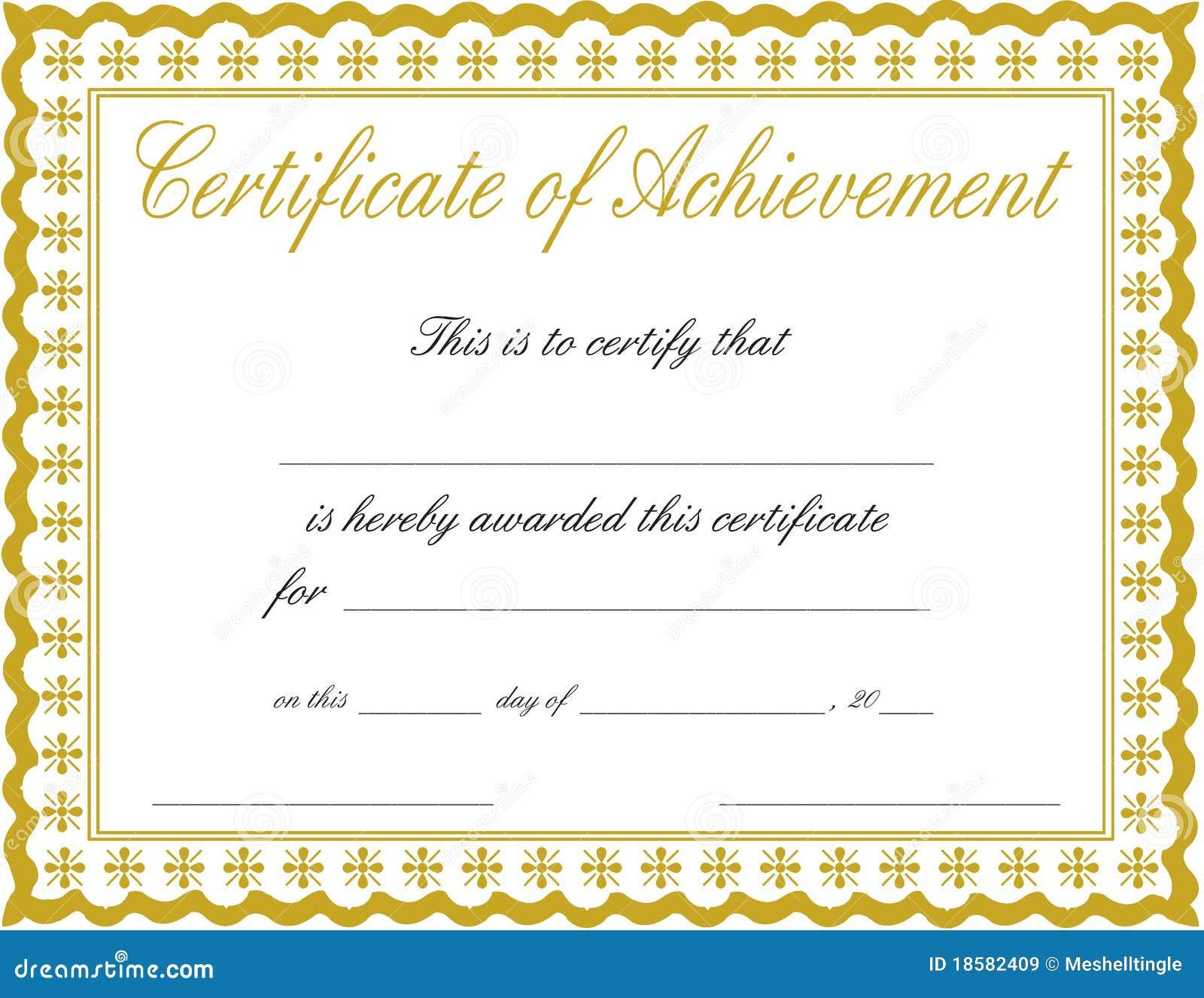 Certificat de l accomplissement