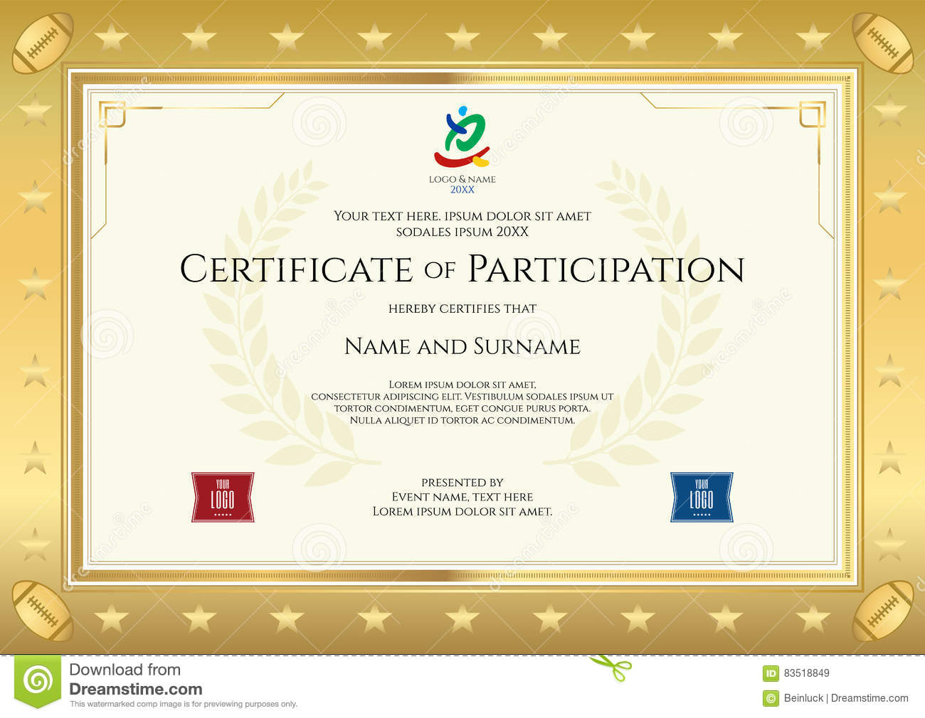 participation certificate templates free download