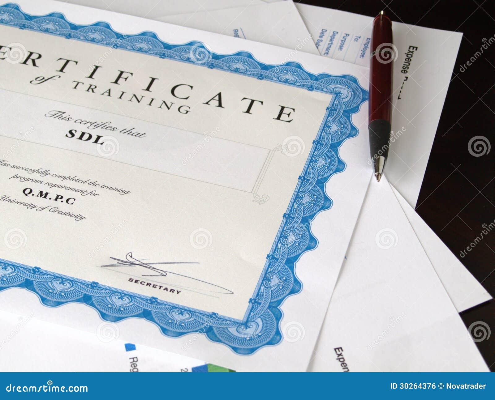 Certificat et d autres documents