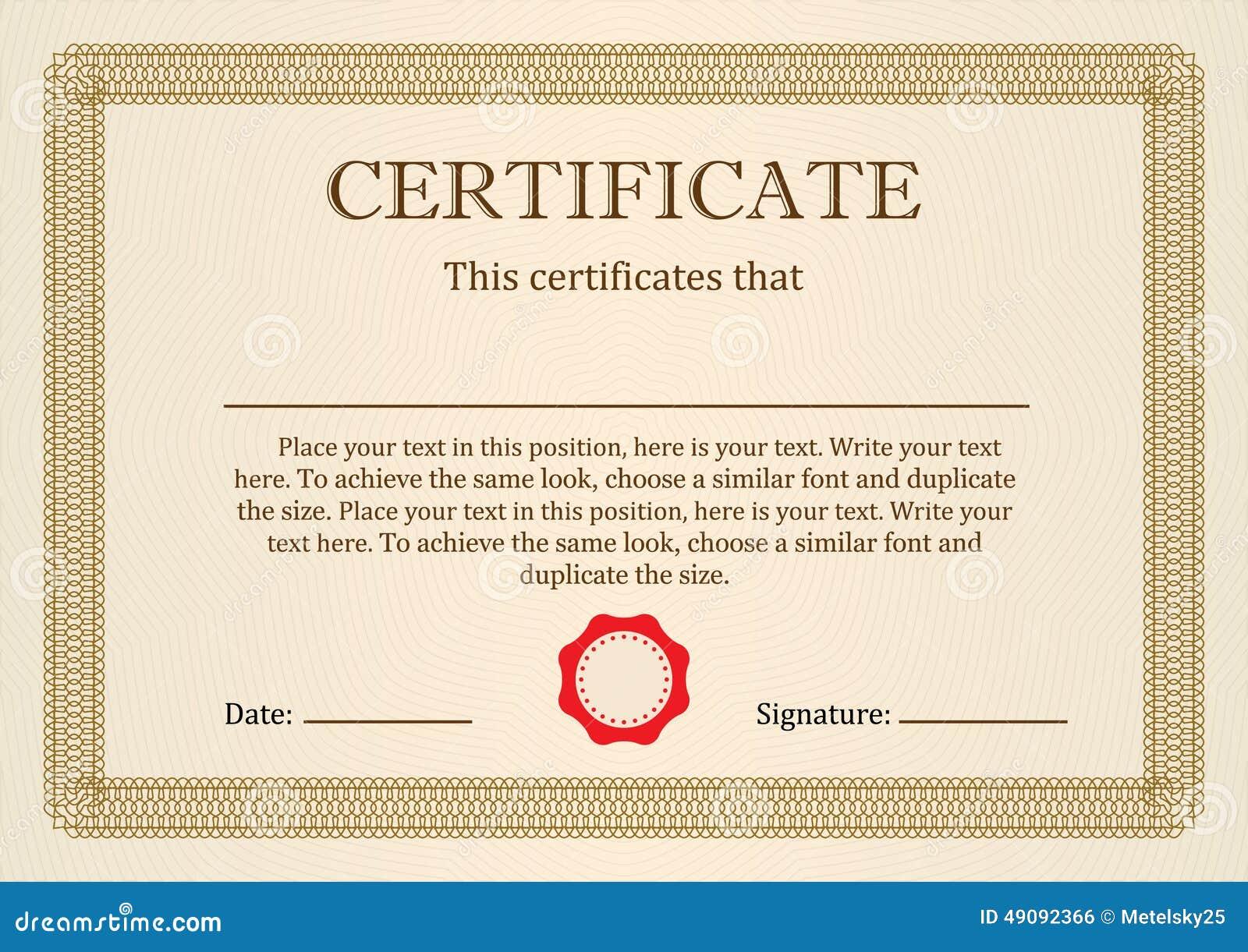 Certificat Ou Dipl 244 Me De L Ach 232 Vement Illustration De
