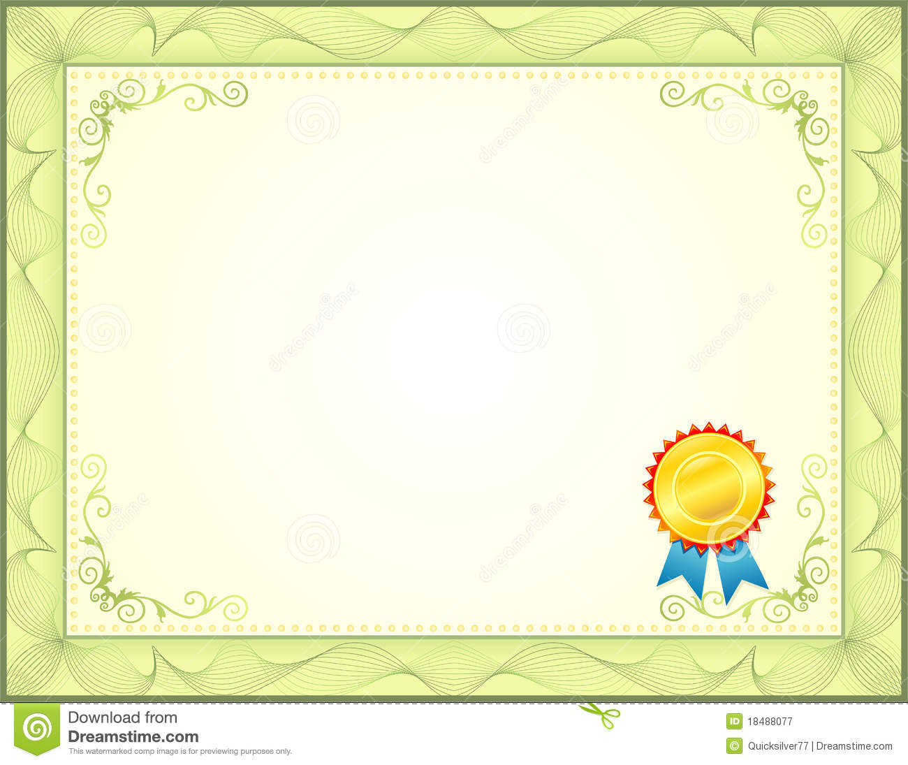 Certificate Royalty Free Stock Photography - Image: 18488077