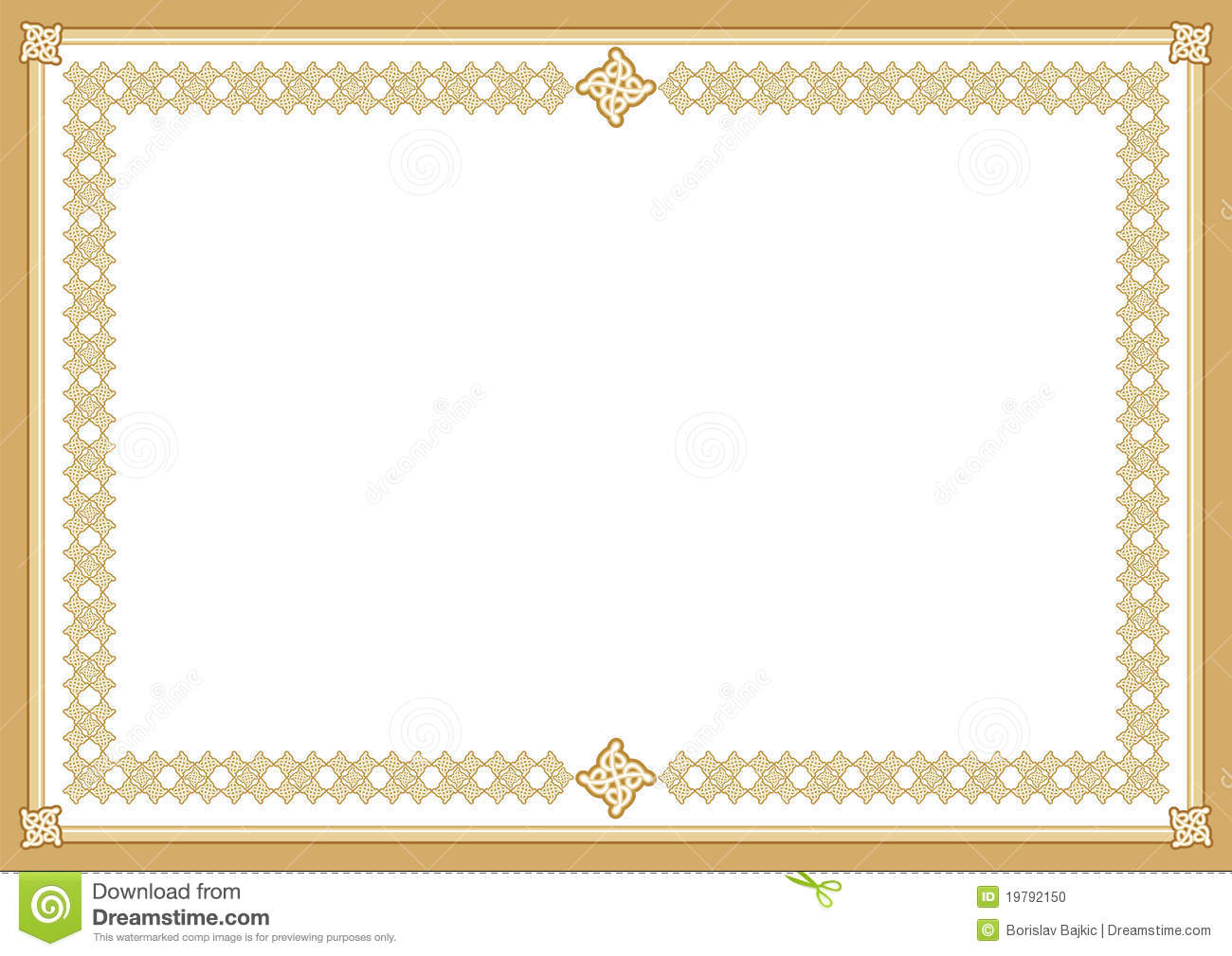 Certificate stock vector image of award blank ornate for High school diploma certificate fancy design templates