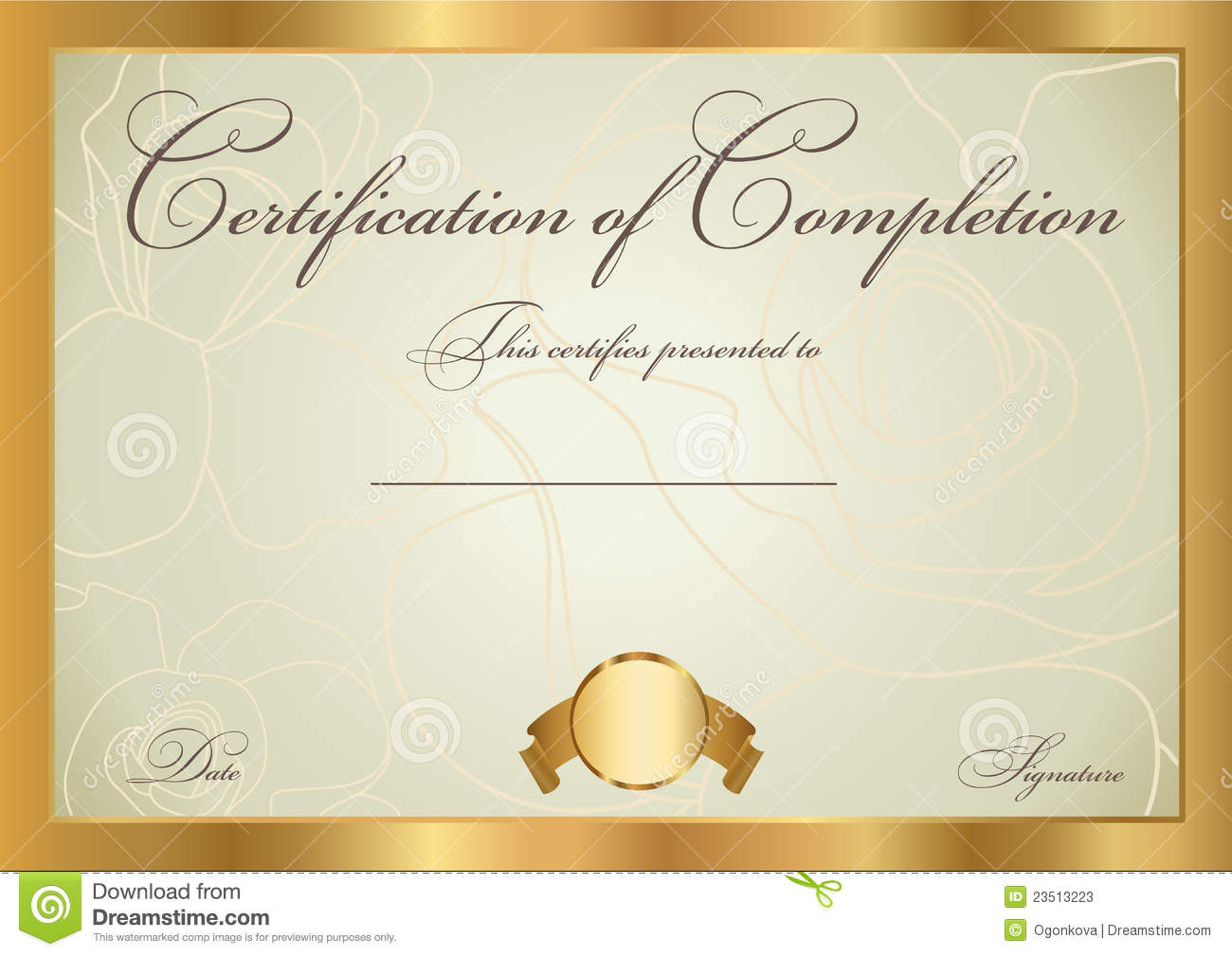 certificate diploma award template pattern stock vector
