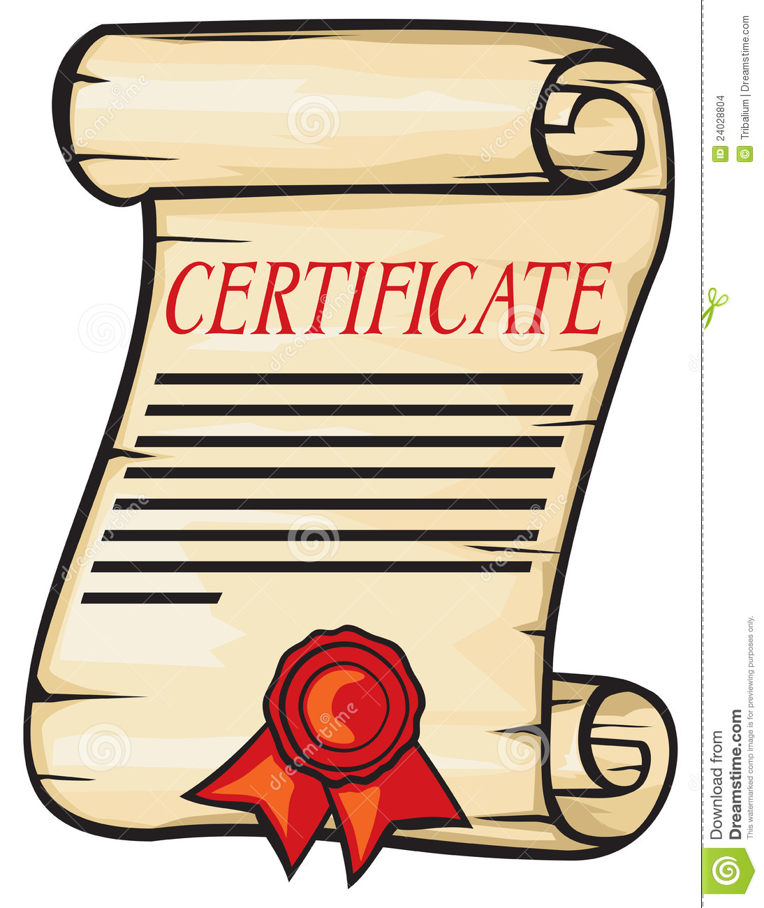 Certificate Stock Images Image 24028804