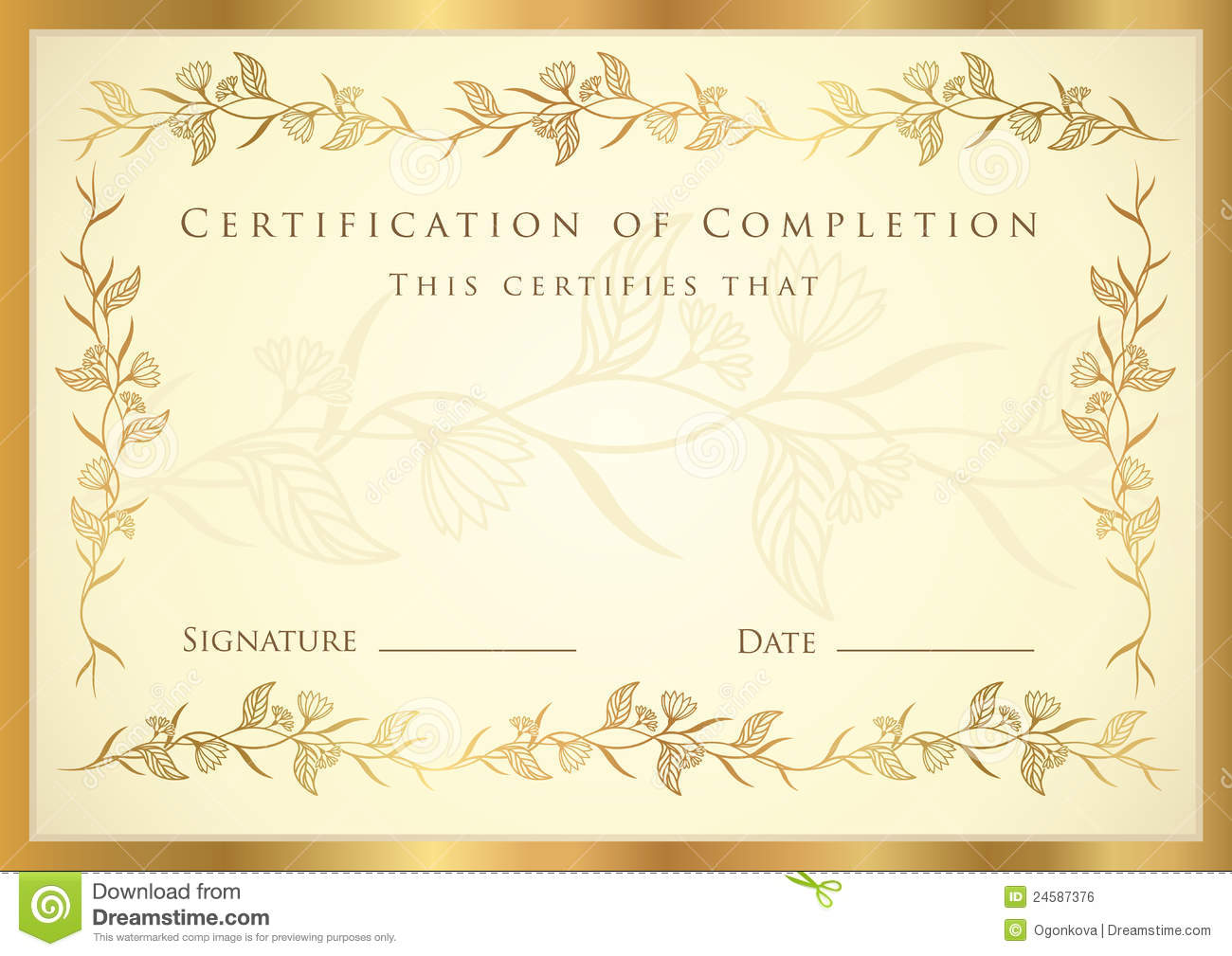 Achievement Certificate Templates Free sample of certificate of – Free Template Certificate