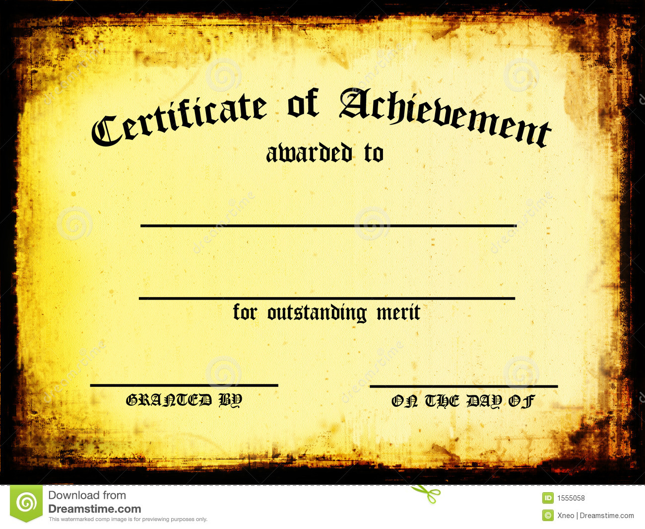 Certificate Of Achievement Royalty Free Stock Photos - Image: 1555058