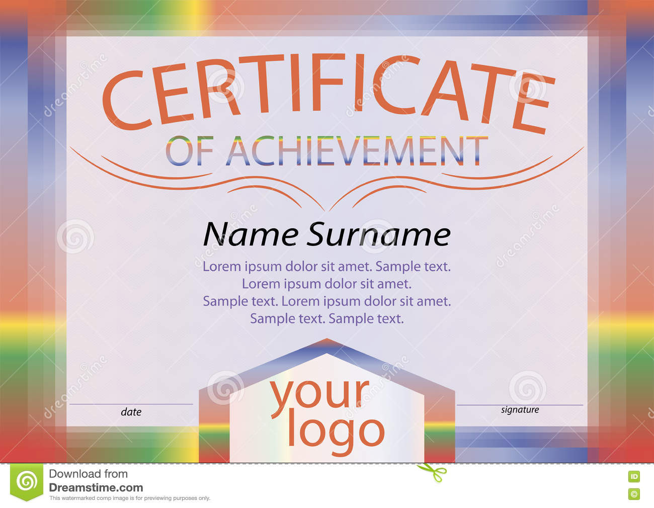 Certificate of achievement or diploma bright frame reward win certificate of achievement or diploma bright frame reward win yelopaper Choice Image