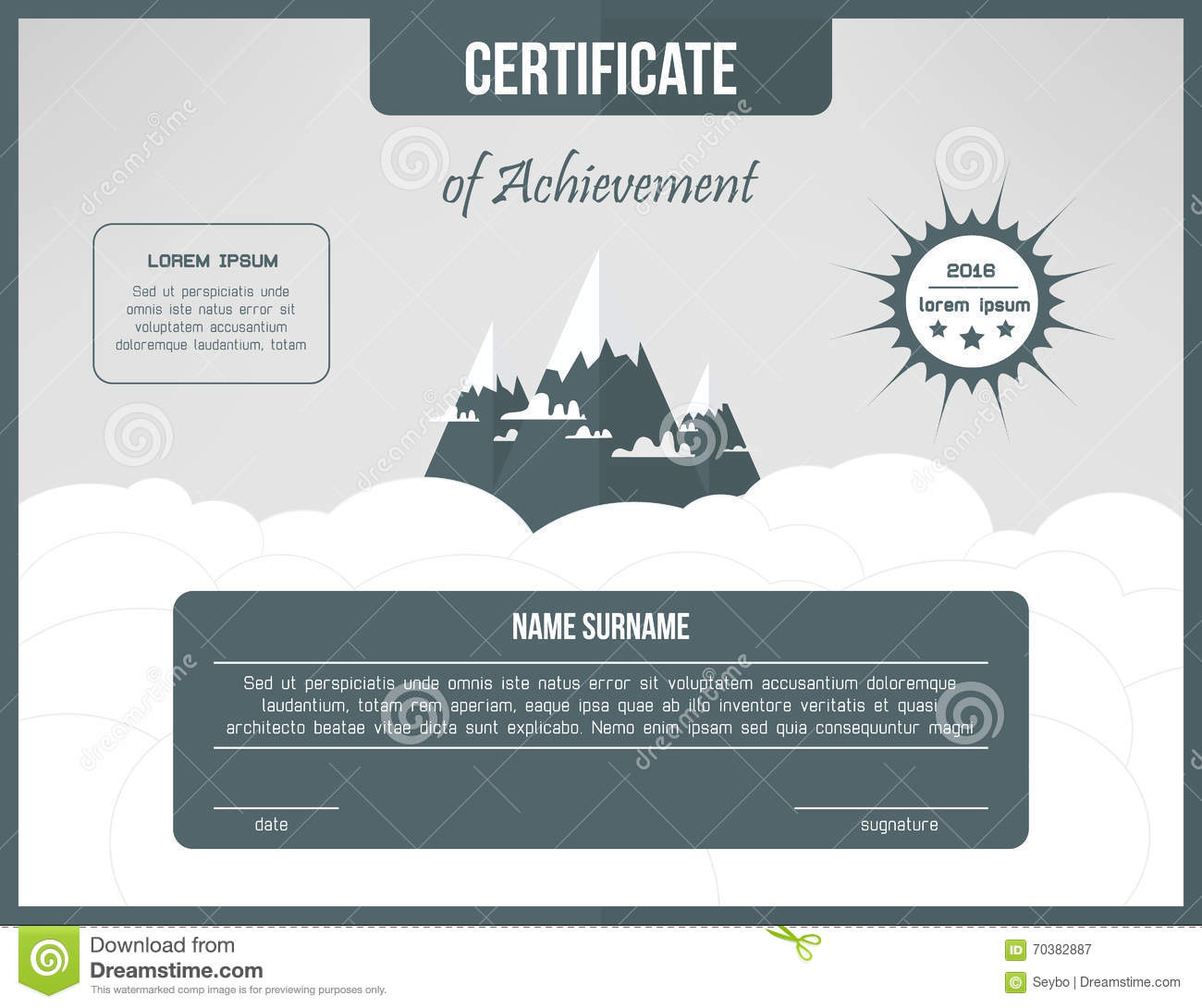 Certificate Of Achievement Template Certification Background Web