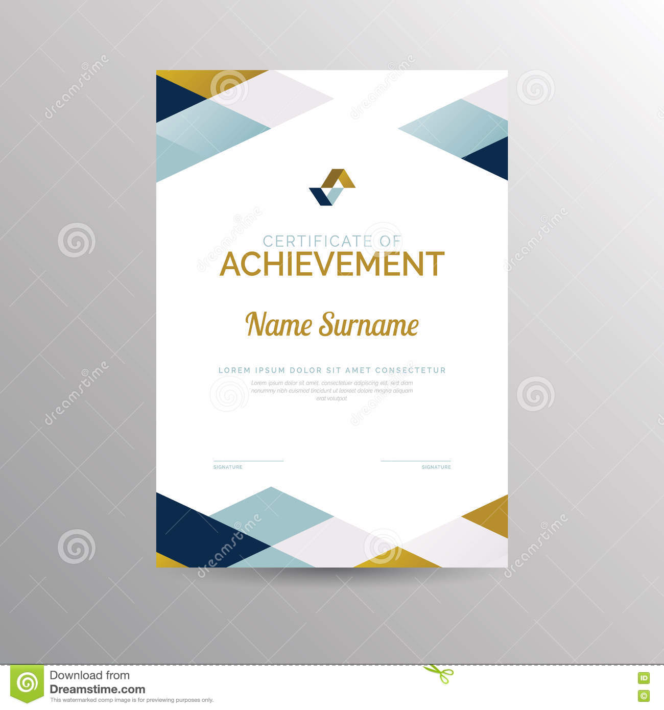 Certificate Of Achievement Template Stock Vector Illustration Of