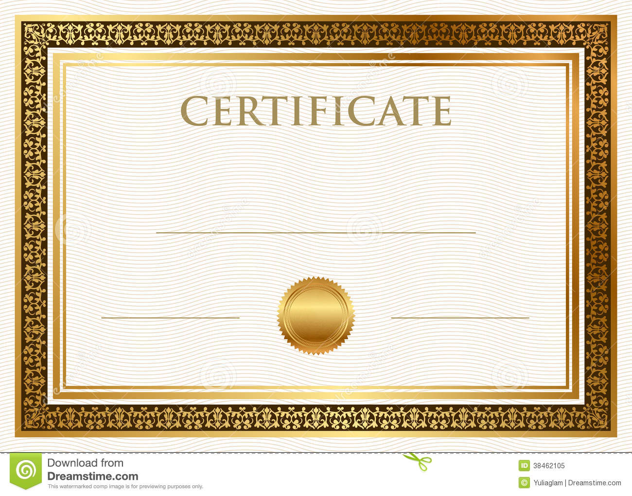 Certificate Of Achievement With Wax Seal  Free Certificate Of Achievement