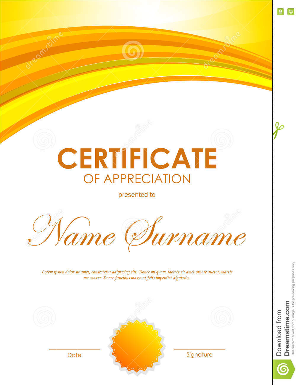 Certificate of appreciation templates free download gallery certificate of appreciation template stock vector illustration certificate of appreciation template royalty free vector alramifo gallery yadclub Image collections